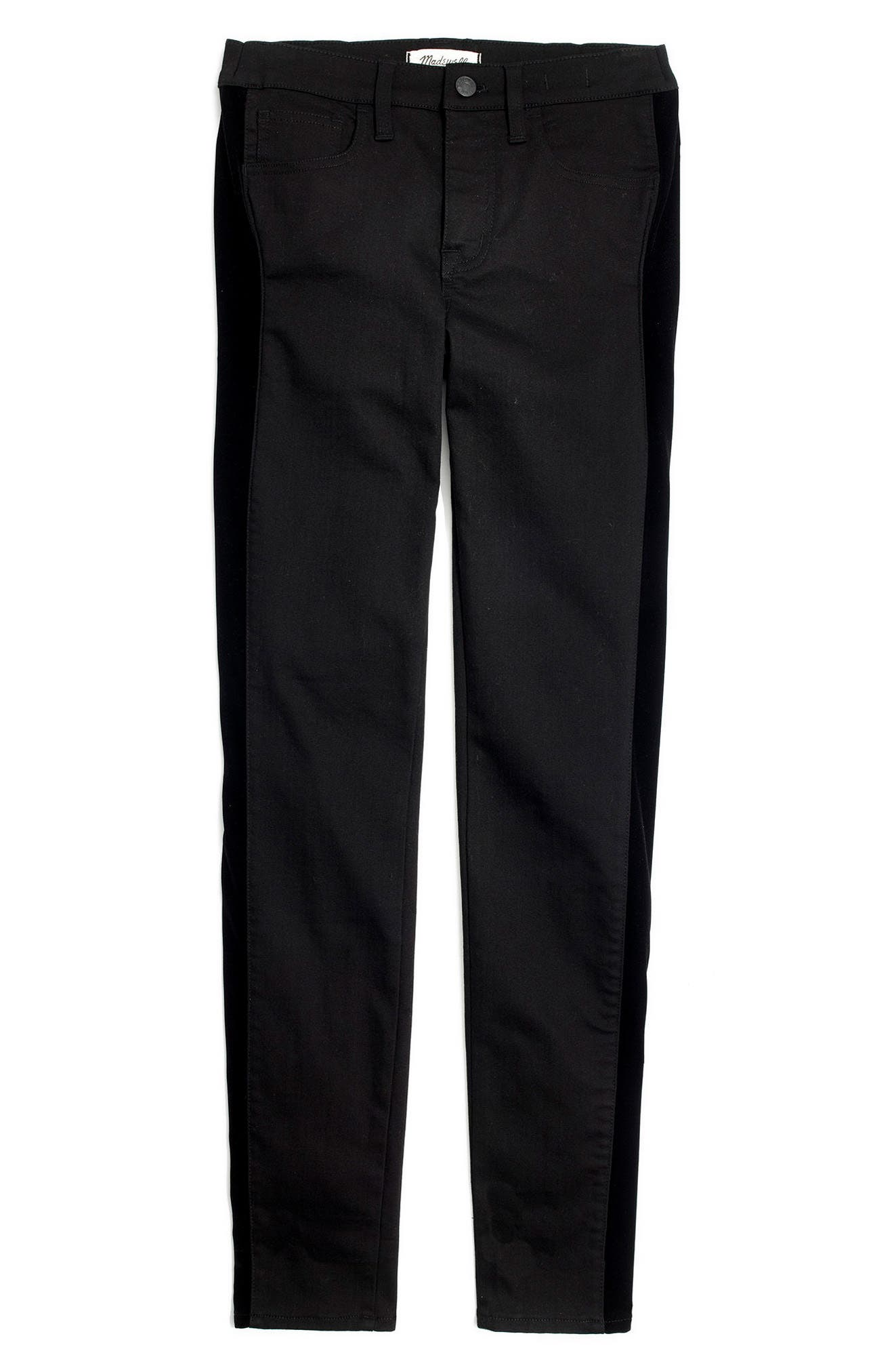 Alternate Image 4  - Madewell 9-Inch High Waist Tuxedo Stripe Skinny Jeans (Esther)