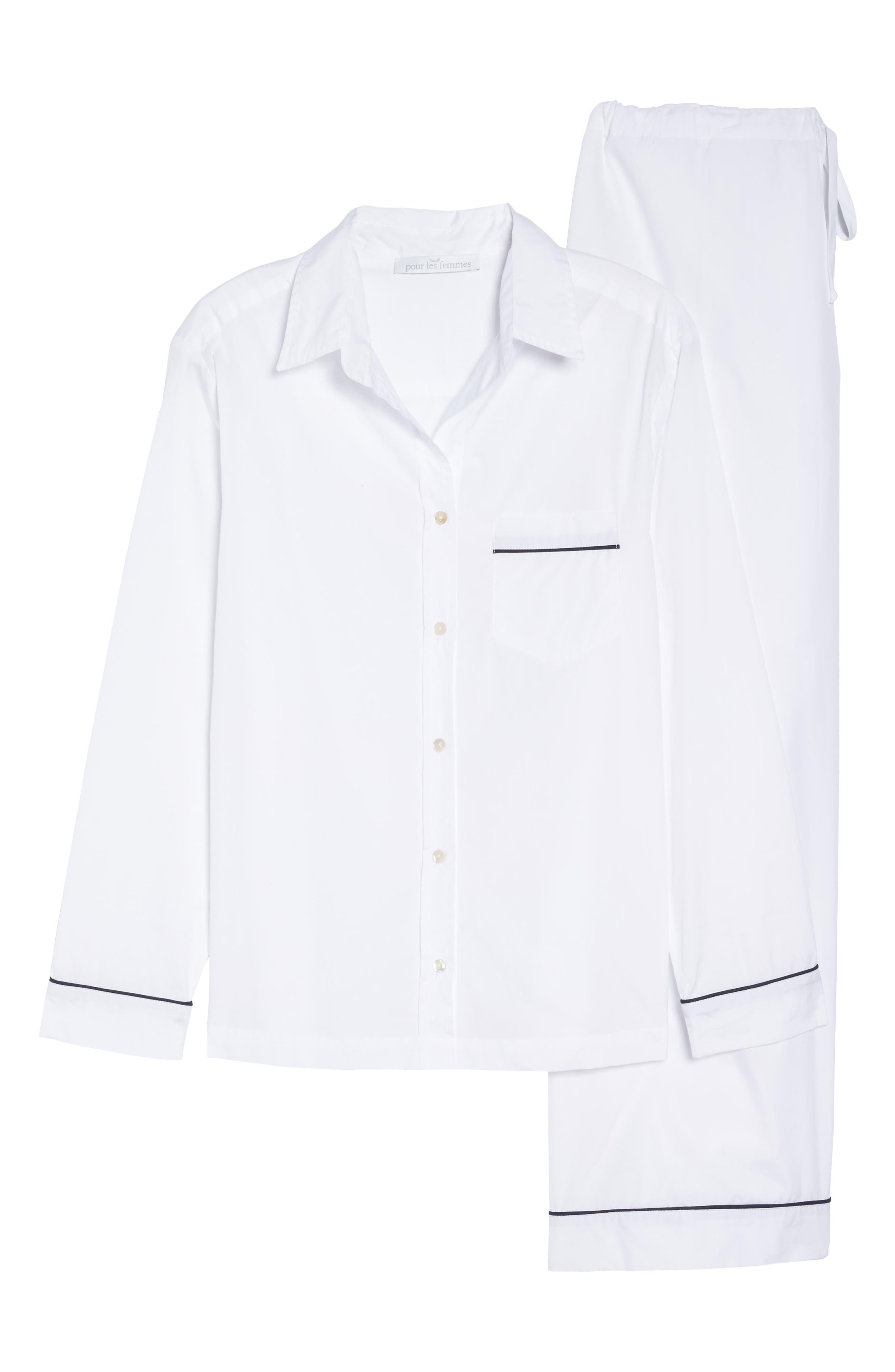 Alternate Image 6  - Pour Les Femmes Piped Pajamas