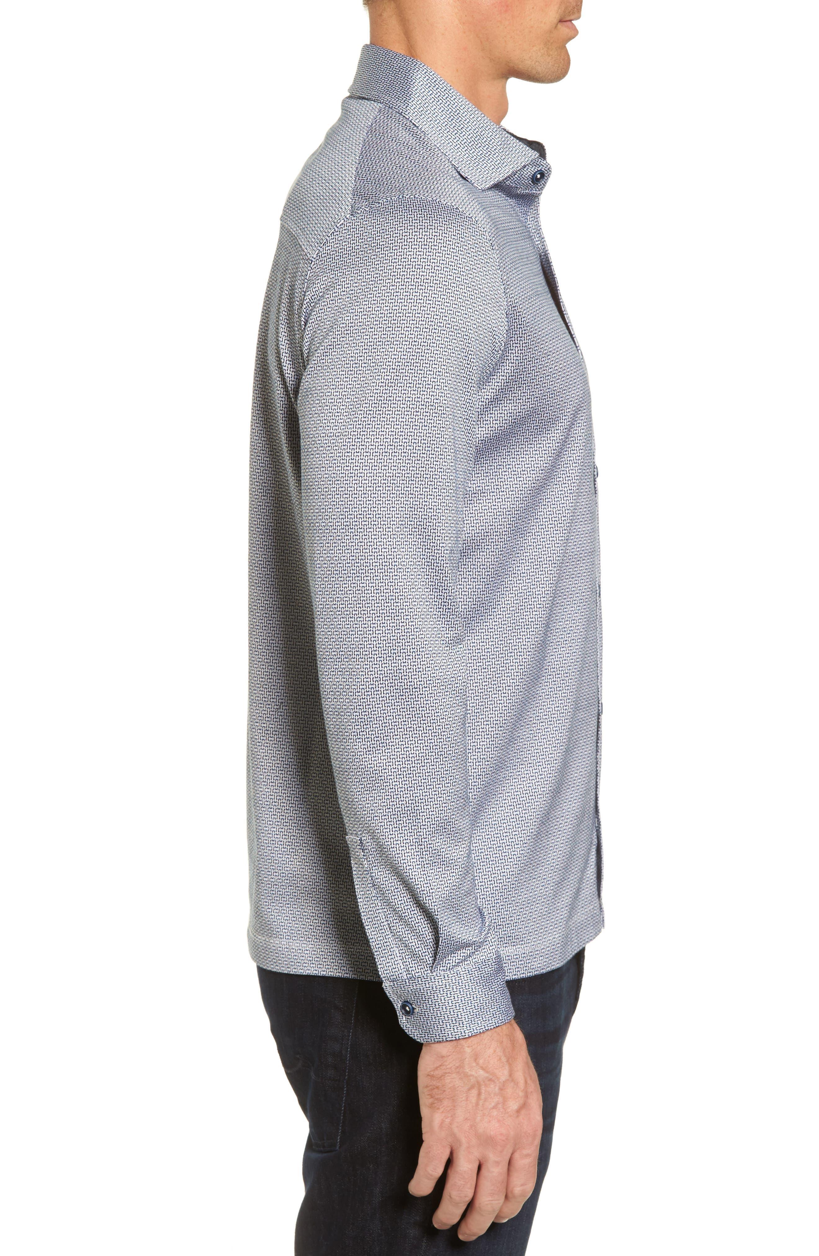 Alternate Image 3  - Bugatchi Print Knit Sport Shirt