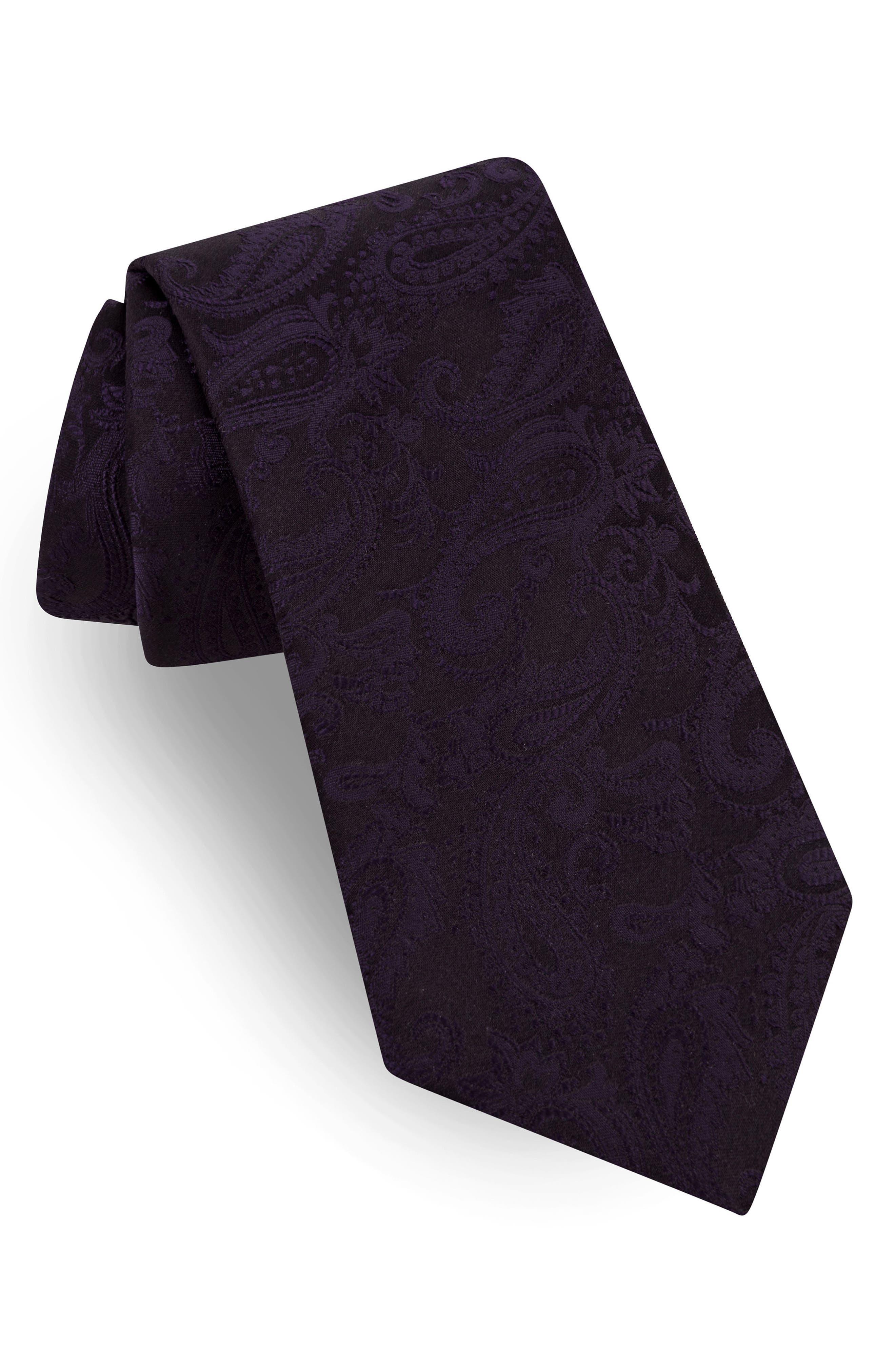 Silk Tie,                             Main thumbnail 1, color,                             Purple 27793