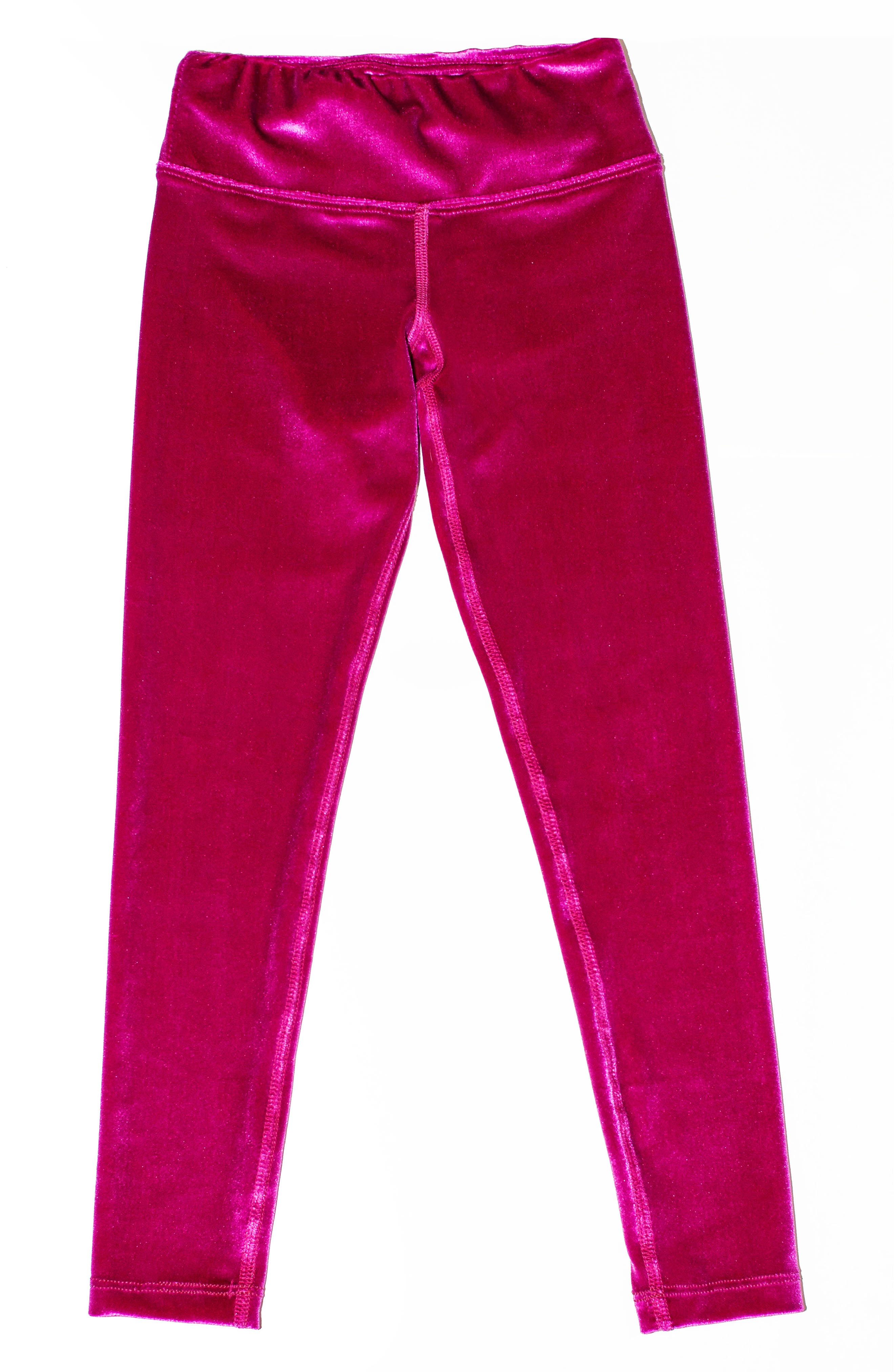 Velour Leggings,                             Main thumbnail 1, color,                             Wild Rose