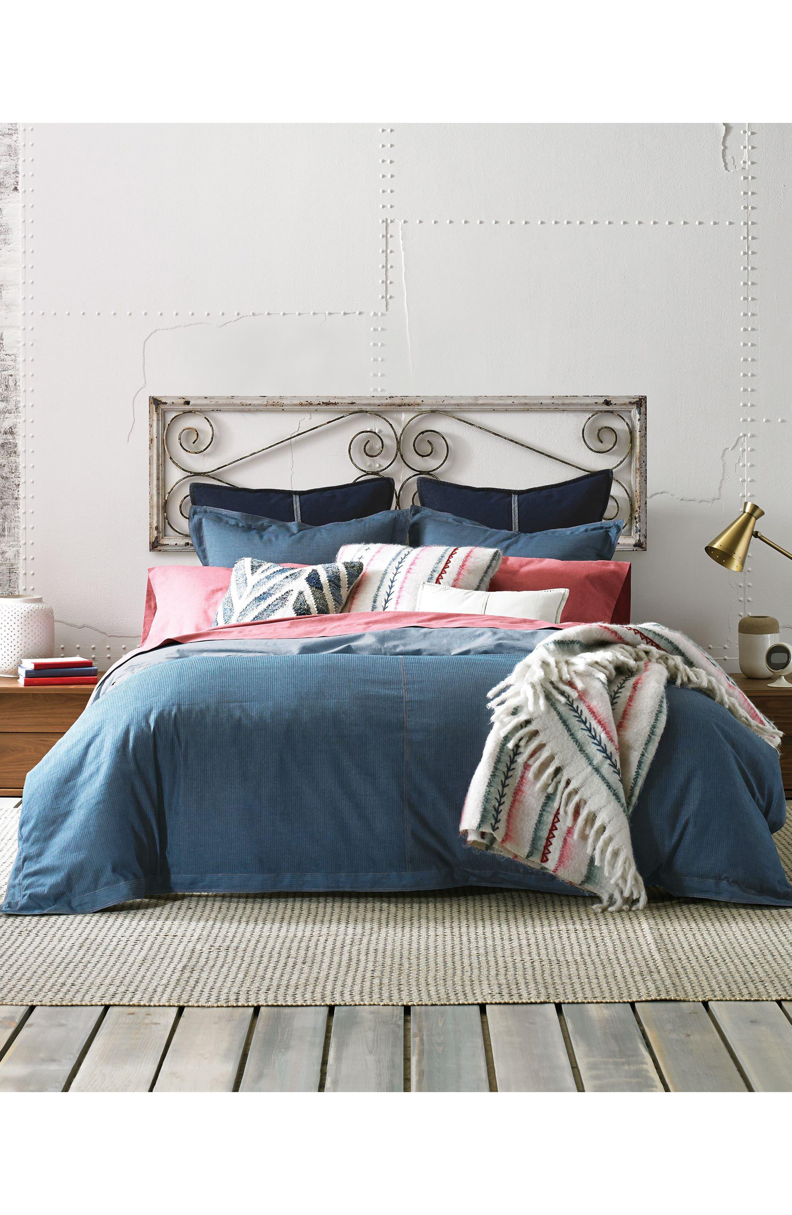 Sunkissed Denim Duvet Cover & Sham Set,                         Main,                         color, Blue