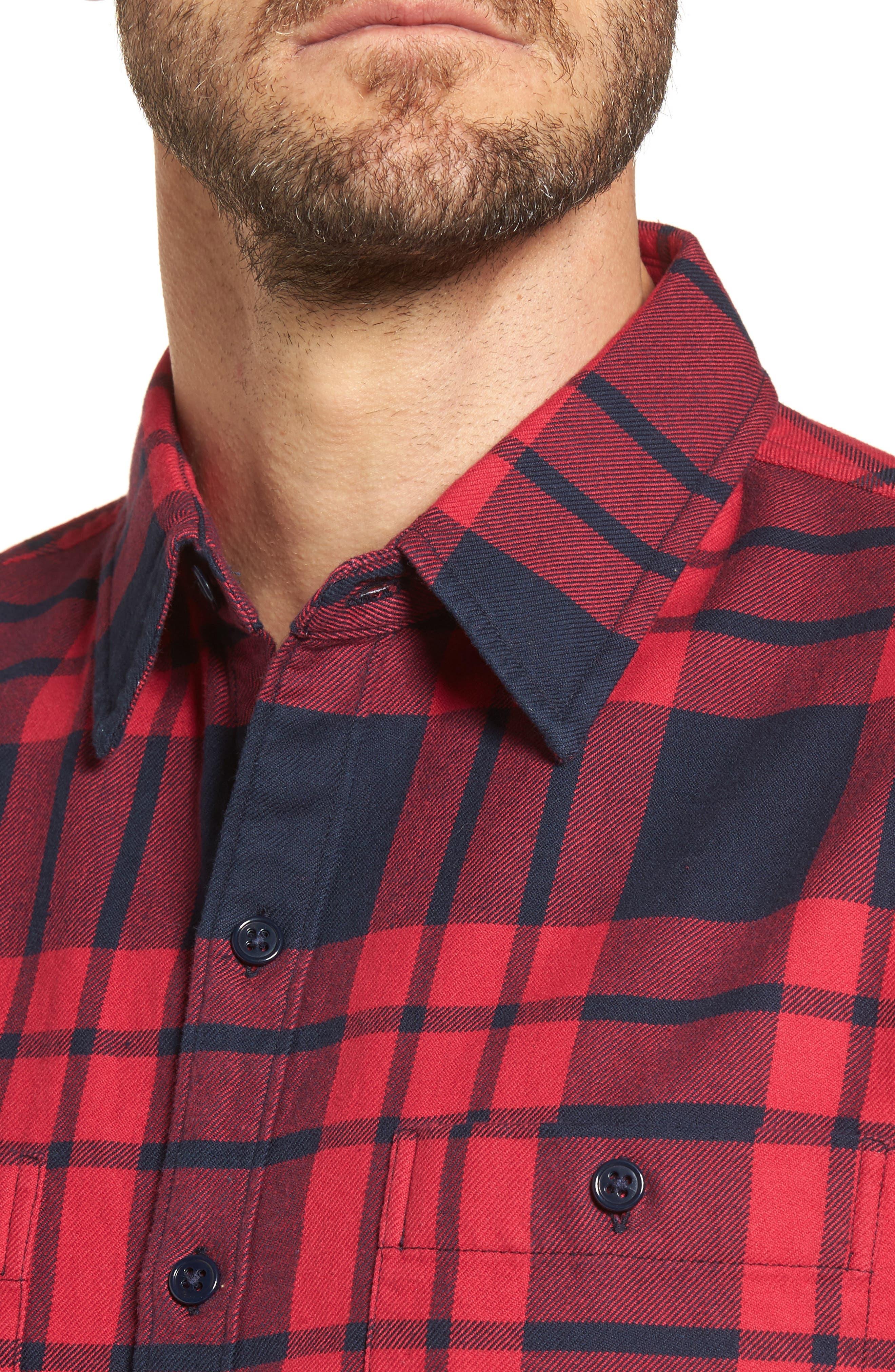 Alternate Image 4  - Bonobos Slim Fit Plaid Flannel Shirt
