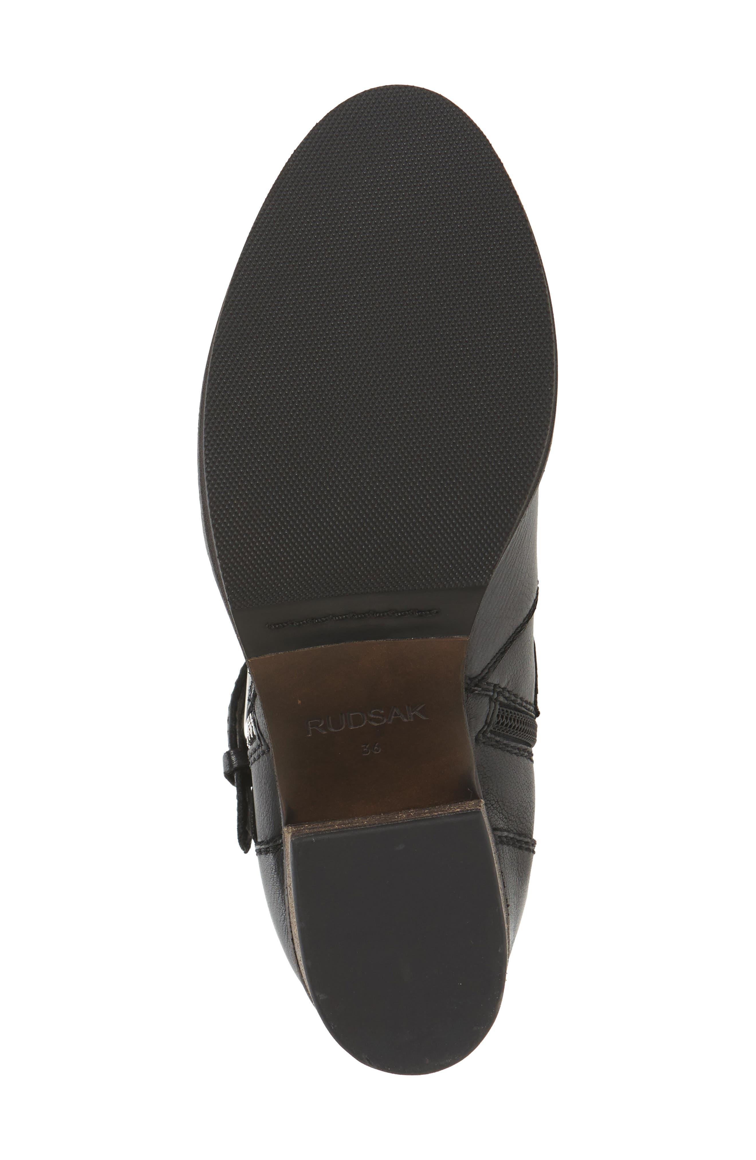 Balady Boot,                             Alternate thumbnail 6, color,                             Black/ Black Leather