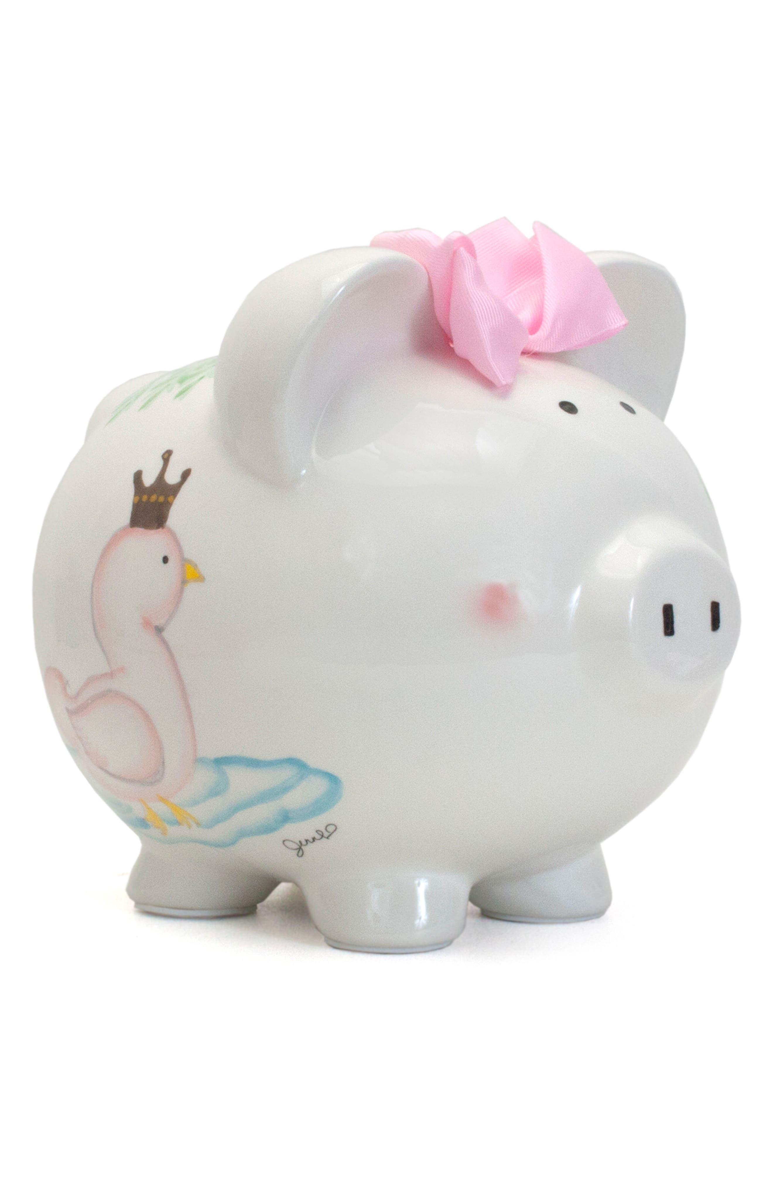 Serena the Swan Pig Bank,                             Main thumbnail 1, color,                             White