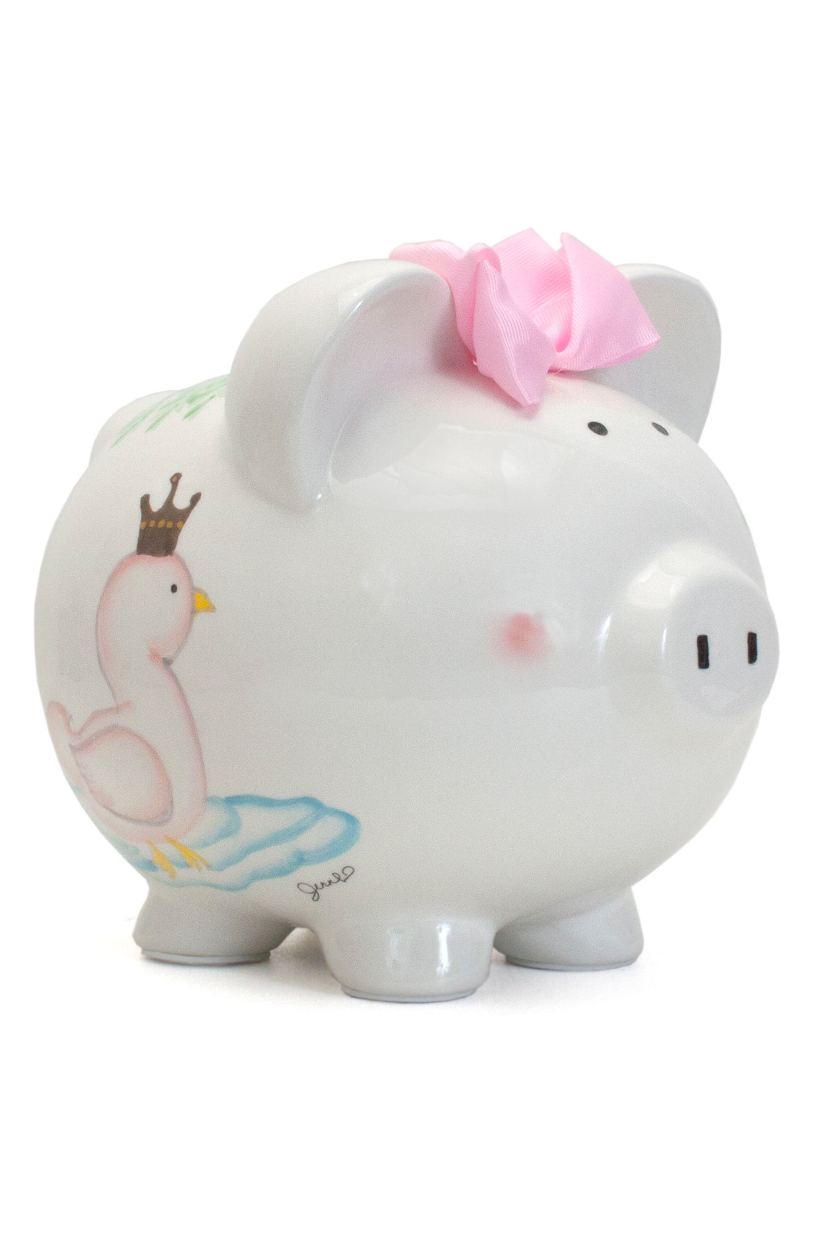 Serena the Swan Pig Bank,                         Main,                         color, White