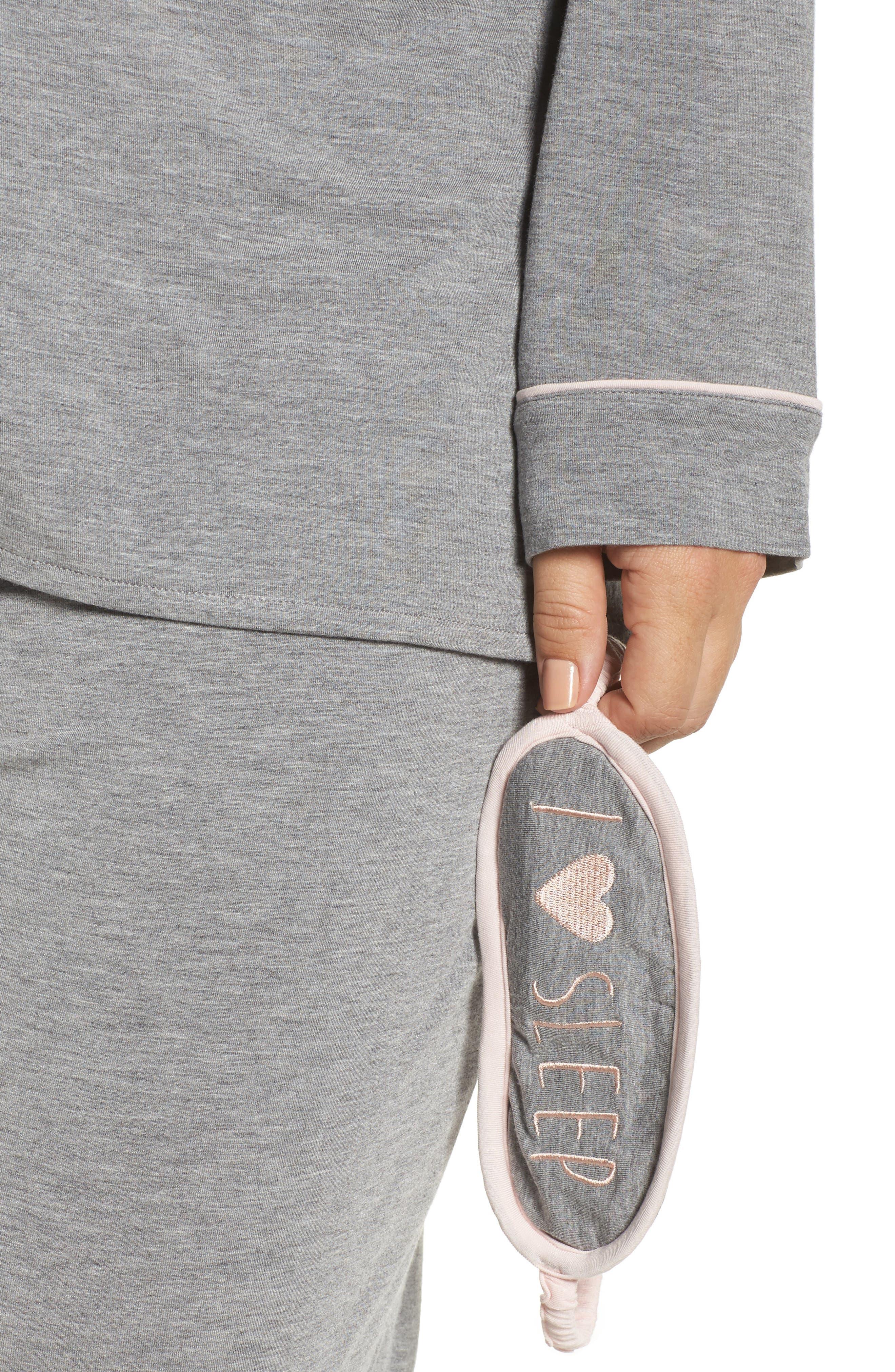 Alternate Image 4  - PJ Salvage Stretch Modal Pajamas & Eye Mask (Plus Size)