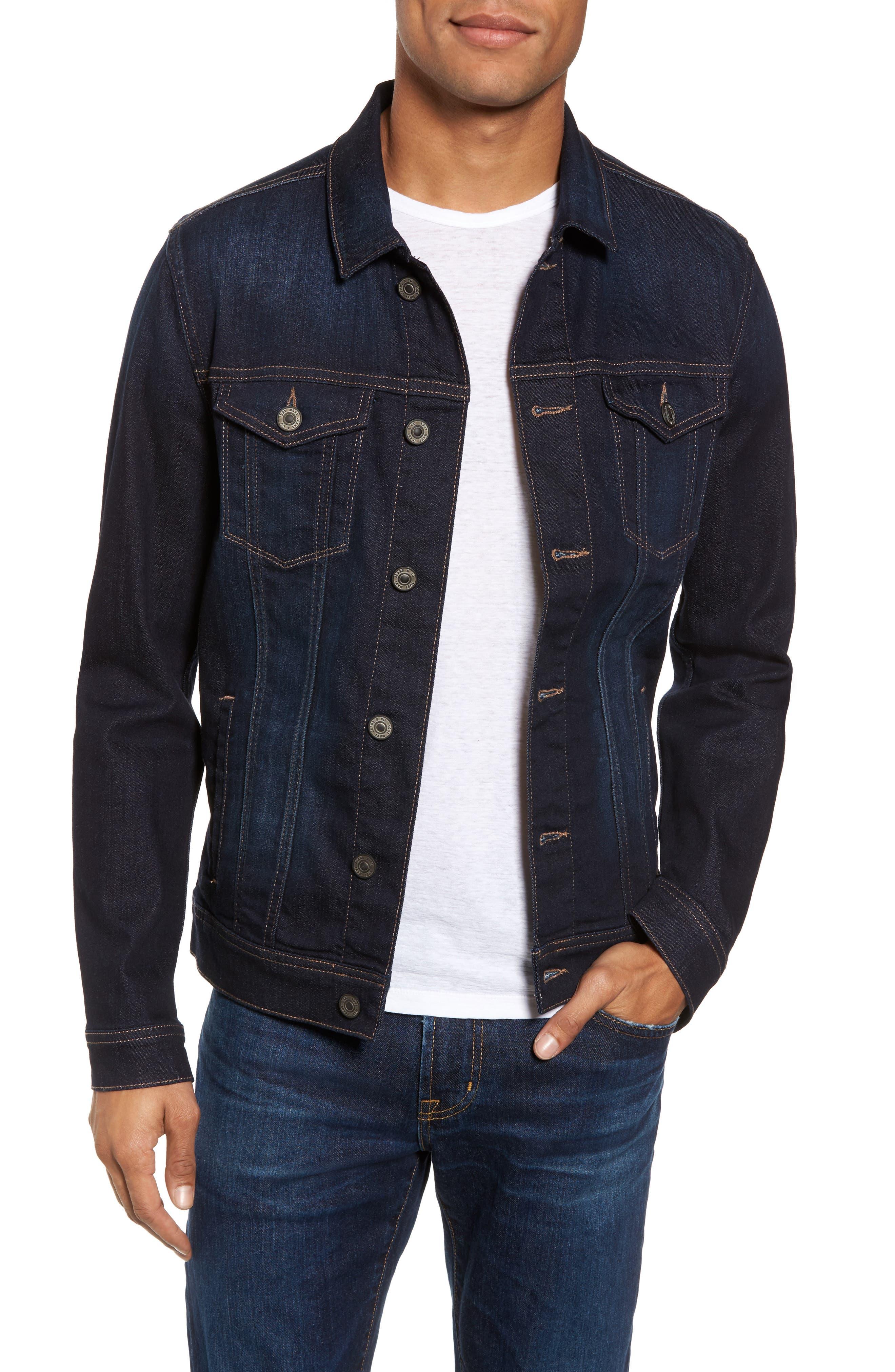 Frank Denim Jacket,                         Main,                         color, Rinse Brushed Williamsburg