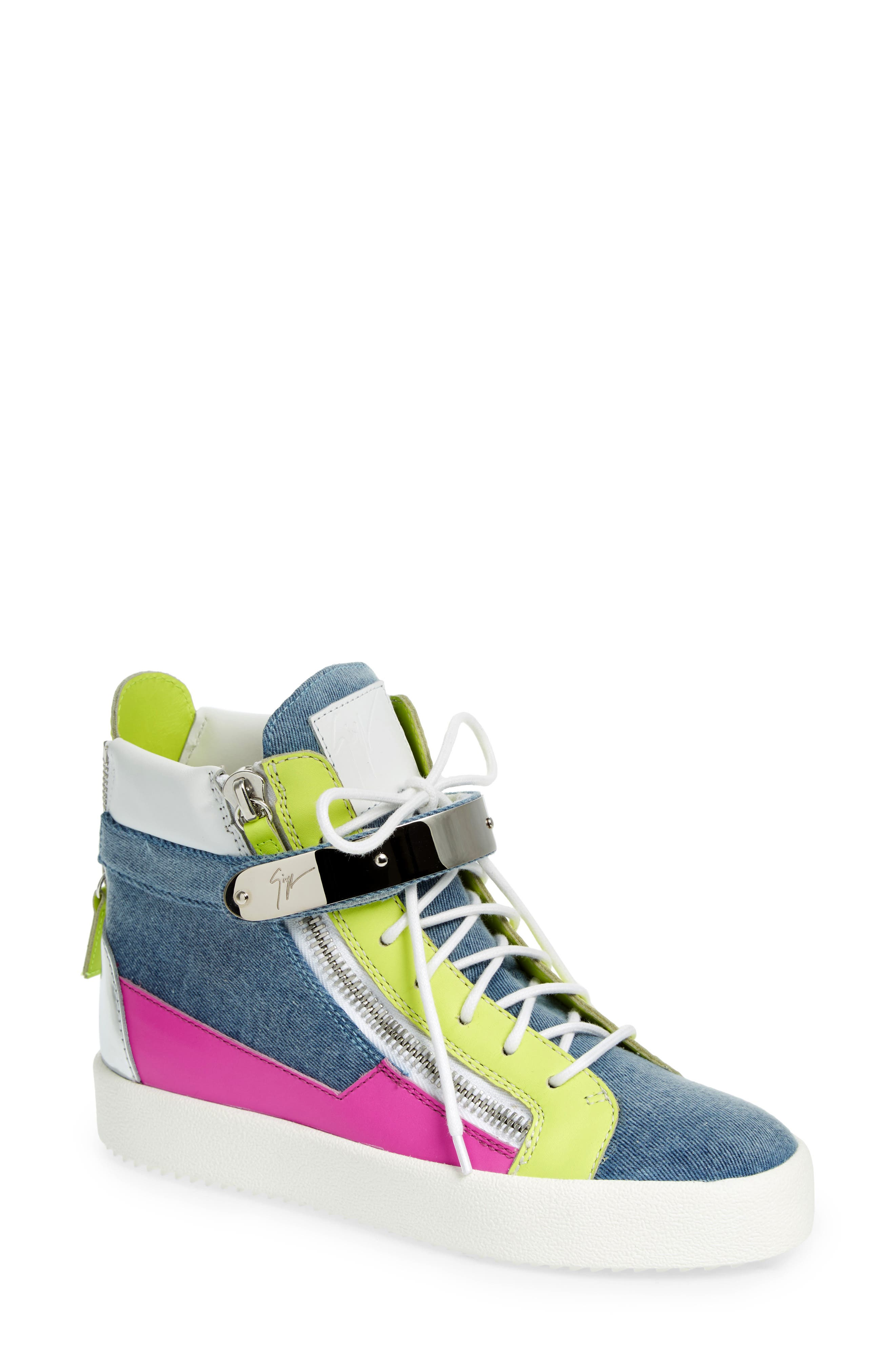 Main Image - Giuseppe Zanotti May London High Top Sneaker (Women)
