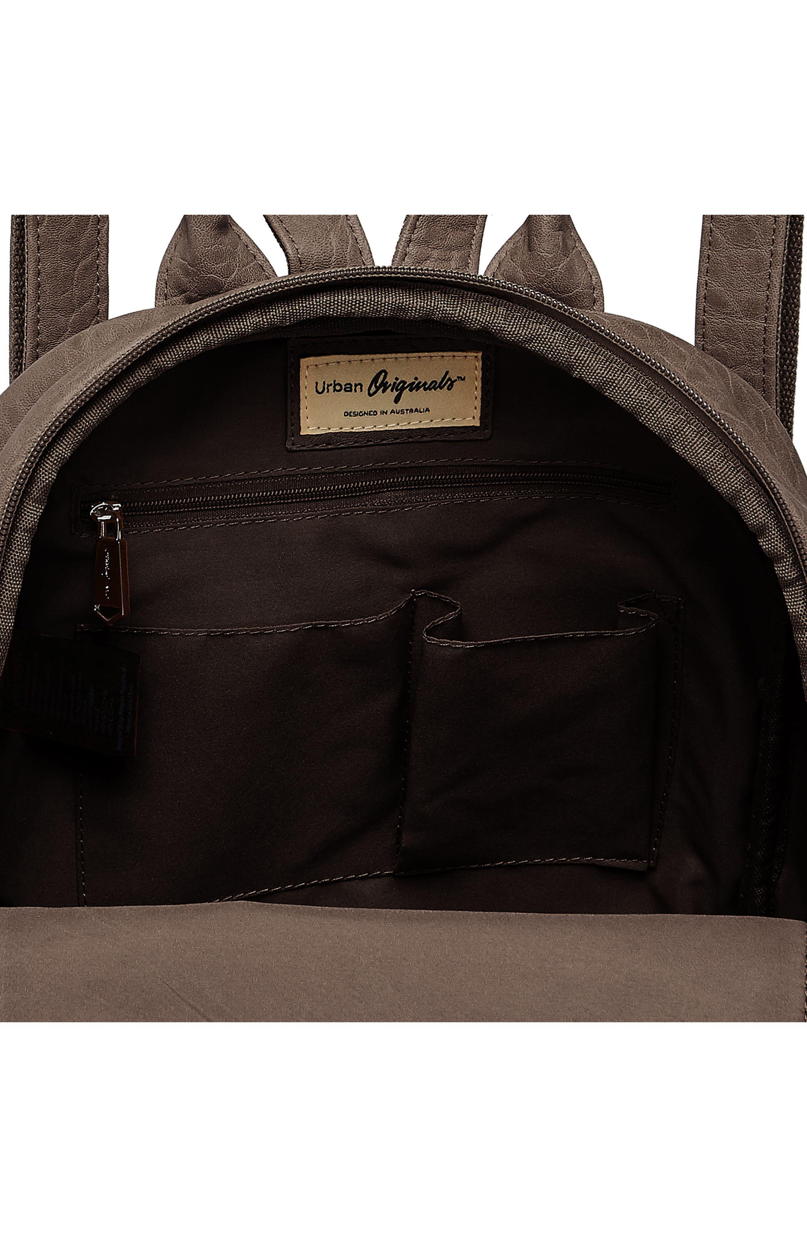 Alternate Image 3  - Urban Originals My Way Vegan Leather Backpack