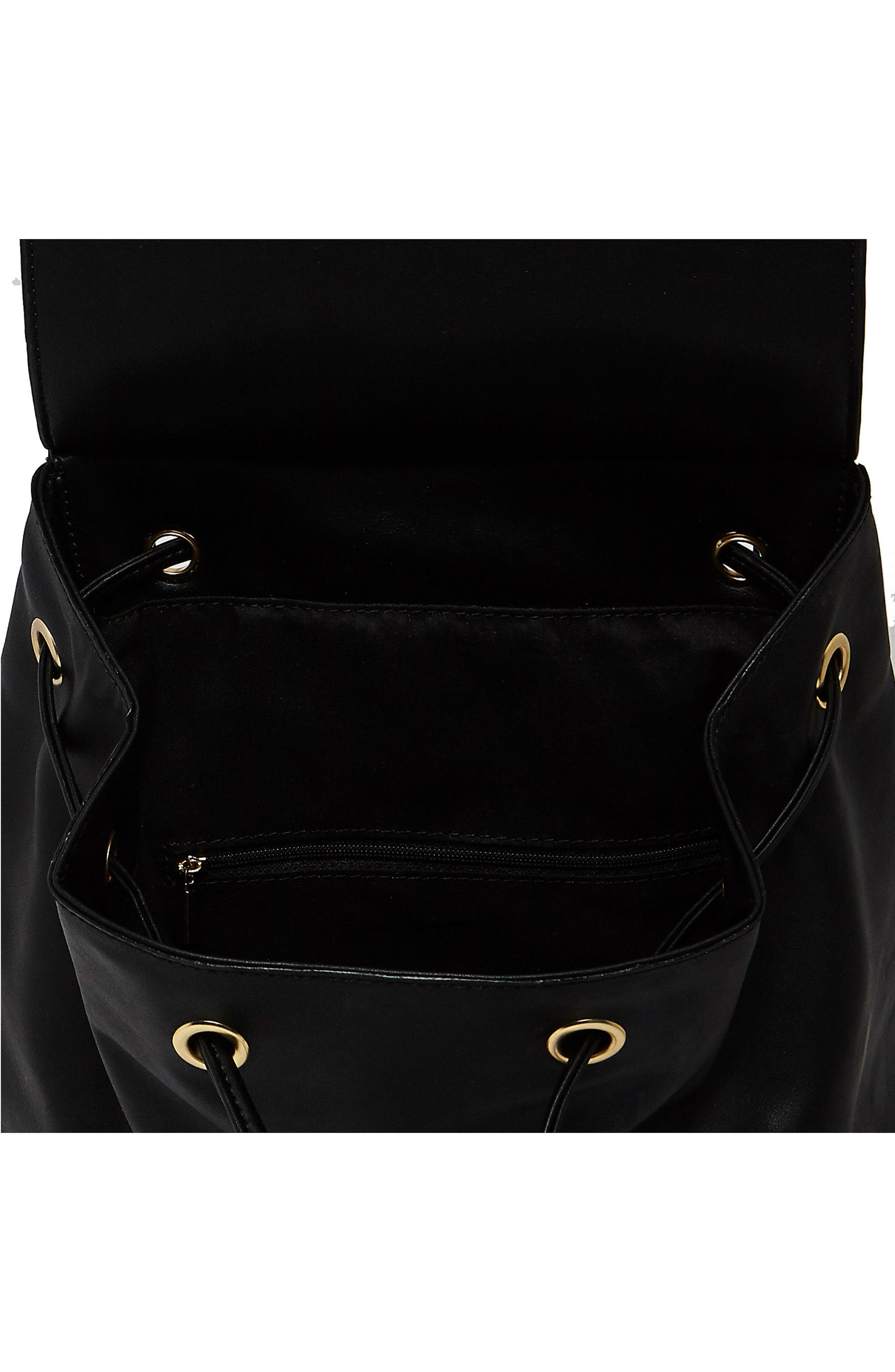 Hide & Seek Vegan Leather Backpack,                             Alternate thumbnail 3, color,                             Black