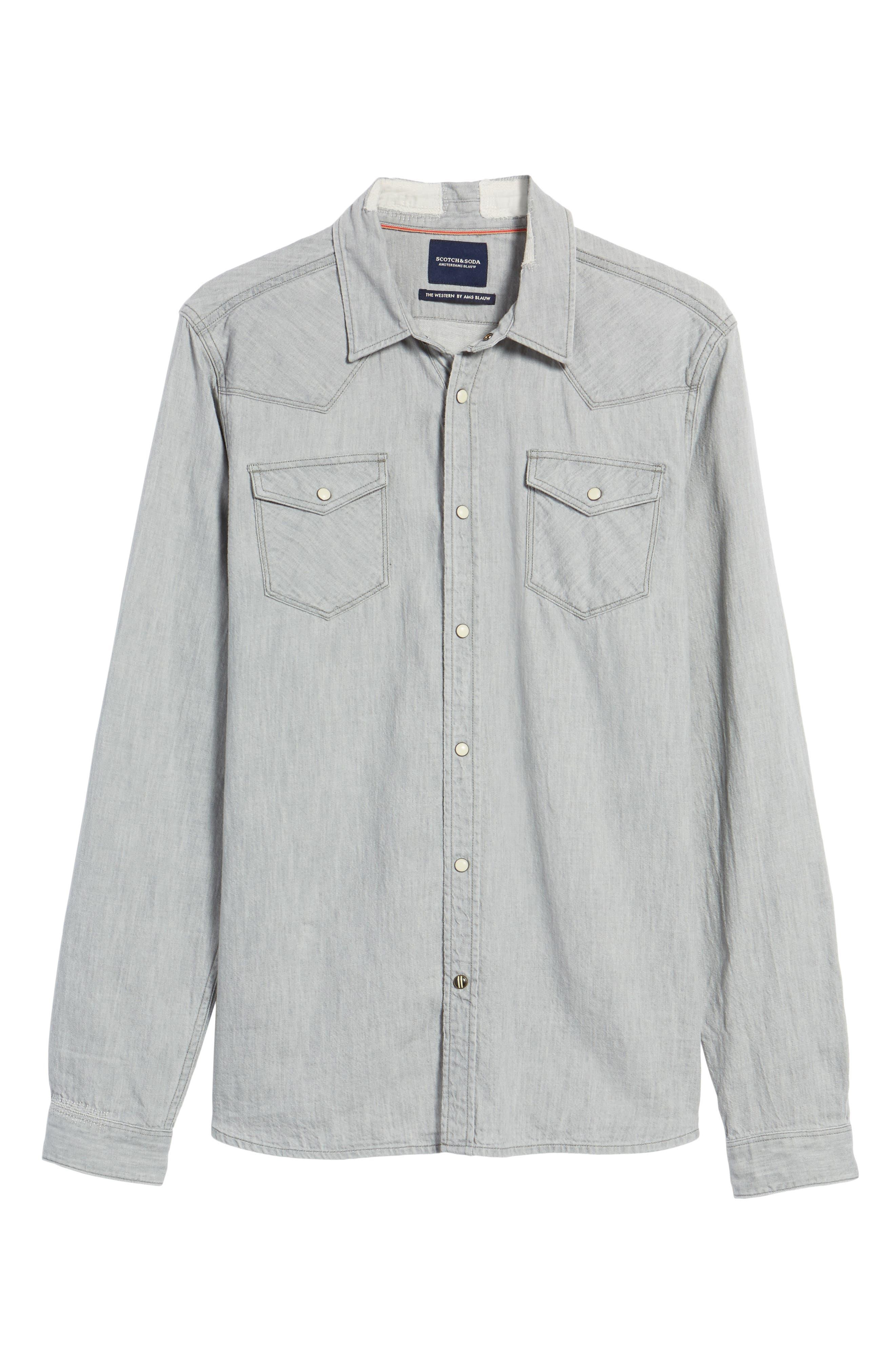 Alternate Image 6  - Scotch & Soda Classic Western Shirt