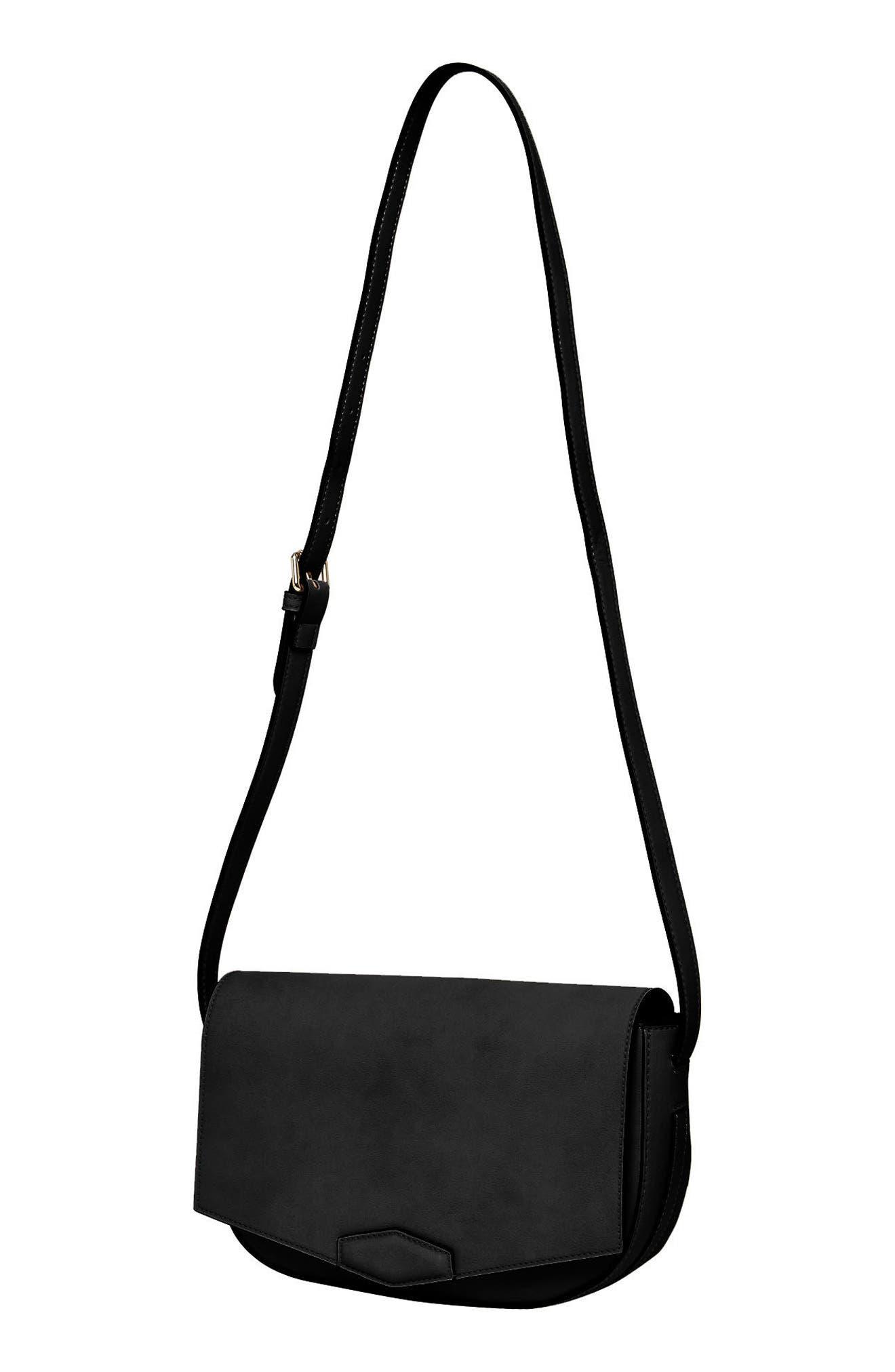 Loved Vegan Leather Crossbody Bag,                             Alternate thumbnail 2, color,                             Black