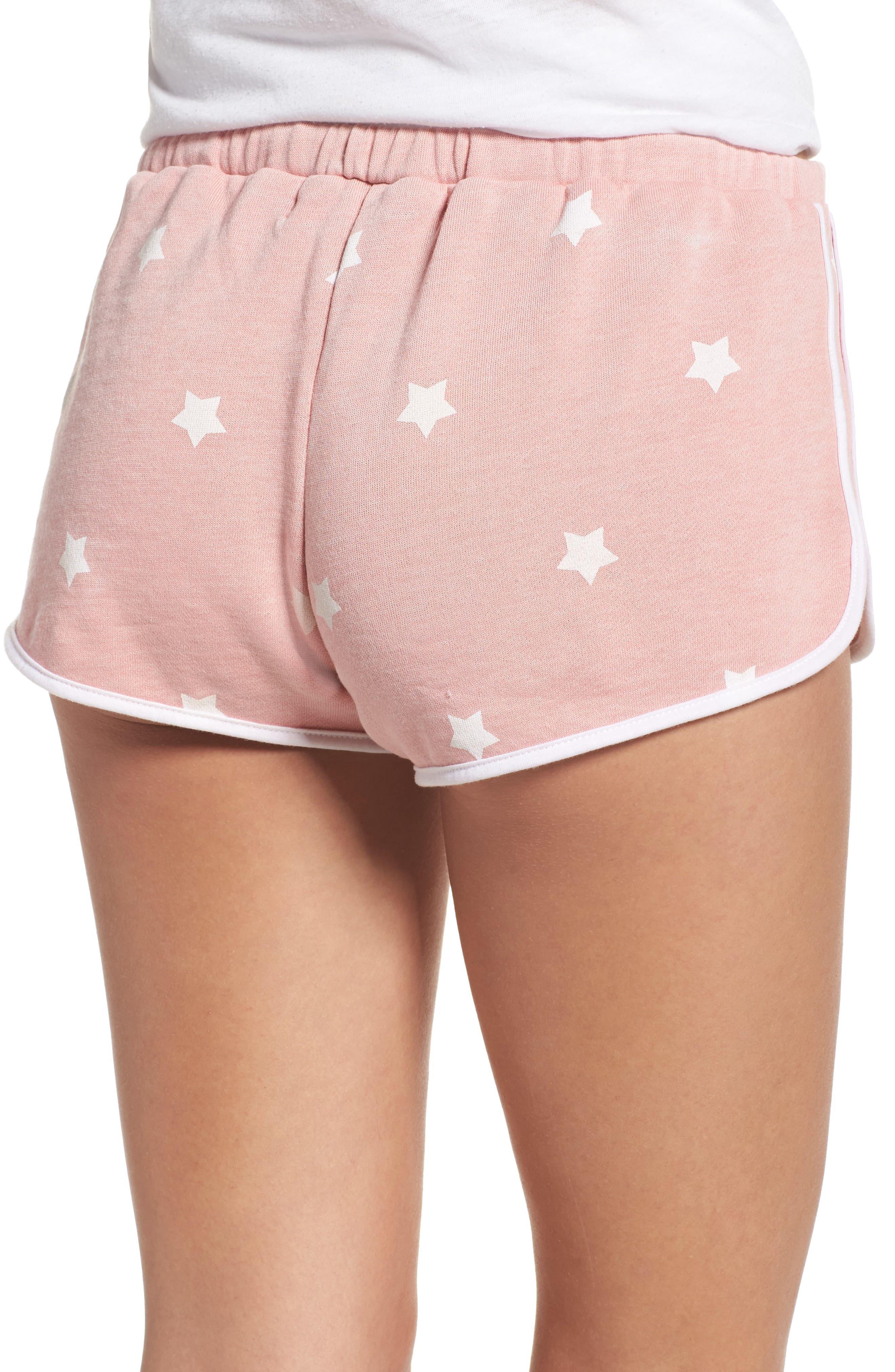 Cozy Crew Lounge Shorts,                             Alternate thumbnail 2, color,                             Champagne Star