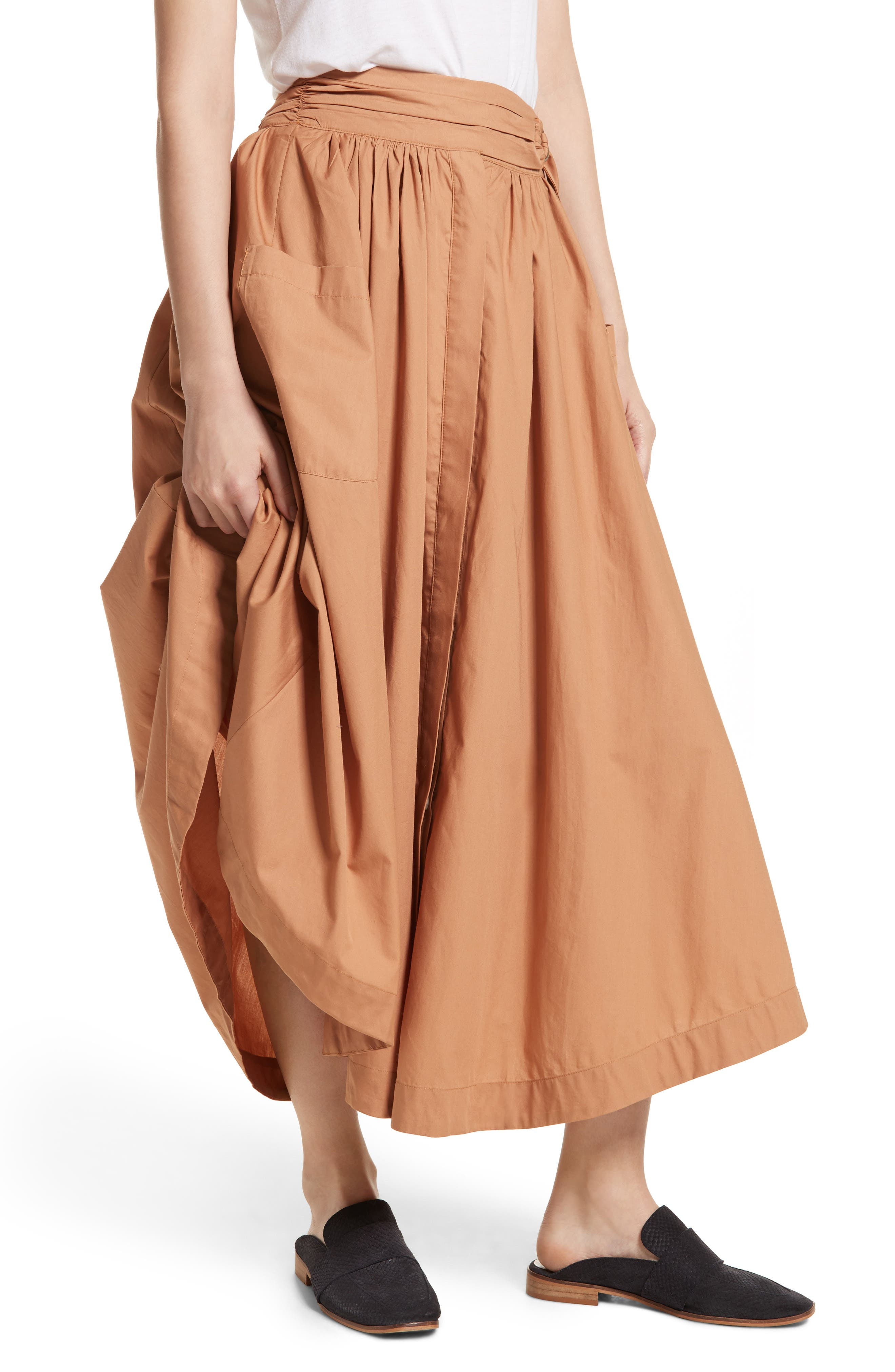 Free People Dream of Me Midi Skirt