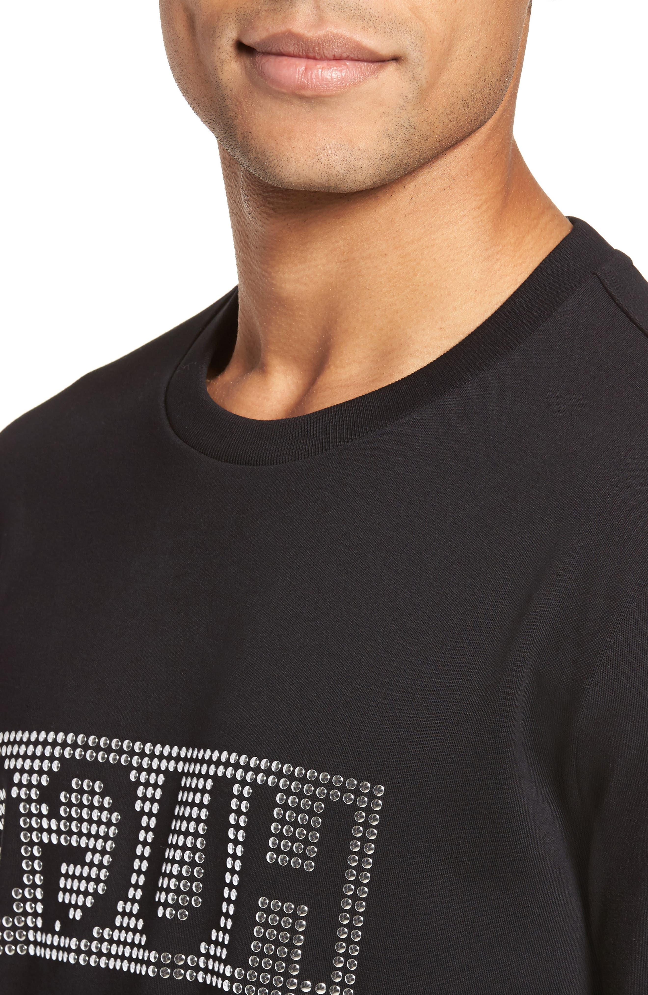 Alternate Image 4  - BOSS Dicagolo Logo Sweatshirt