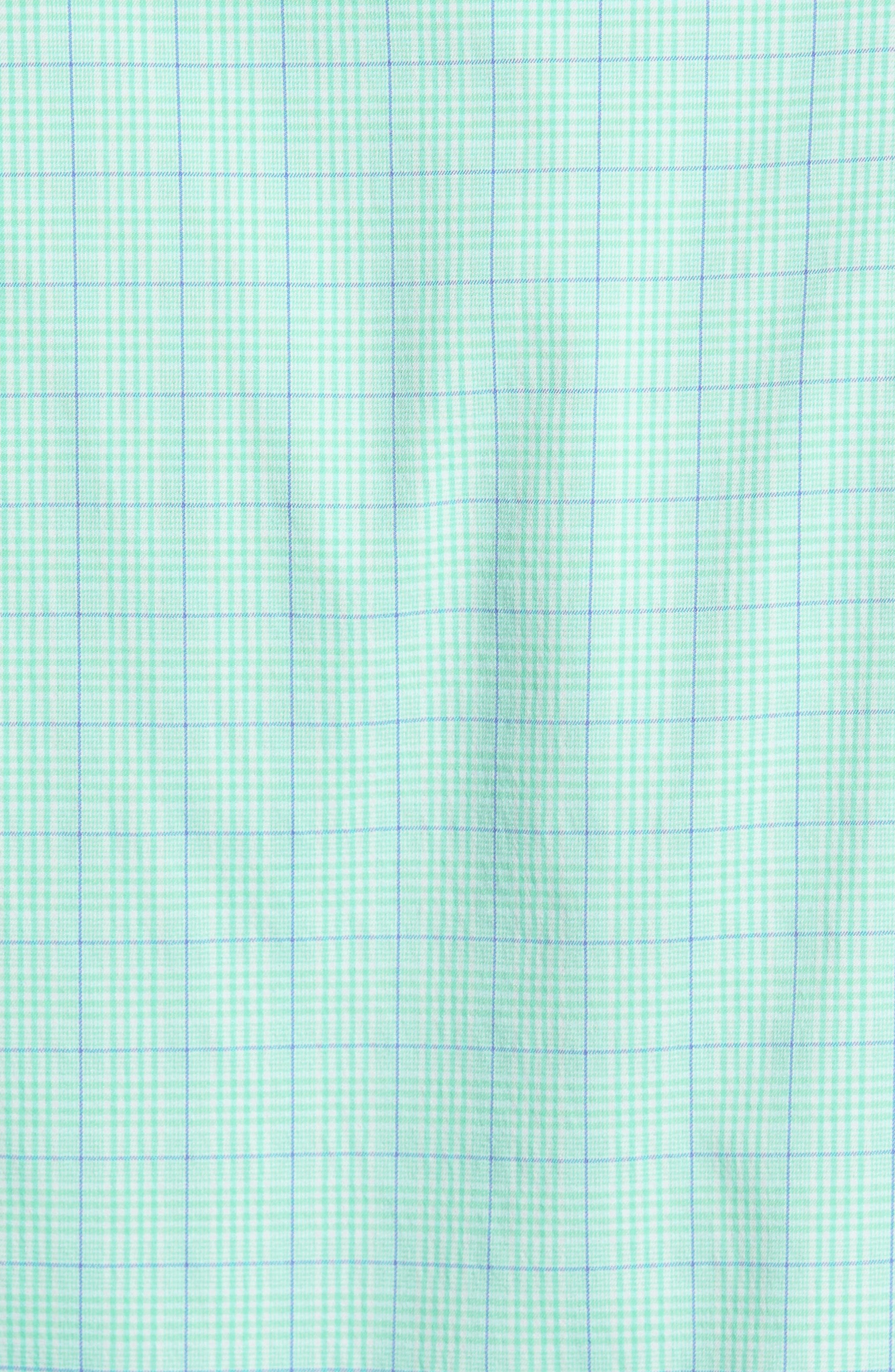McConnell Plaid Performance Sport Shirt,                             Alternate thumbnail 5, color,                             Cays