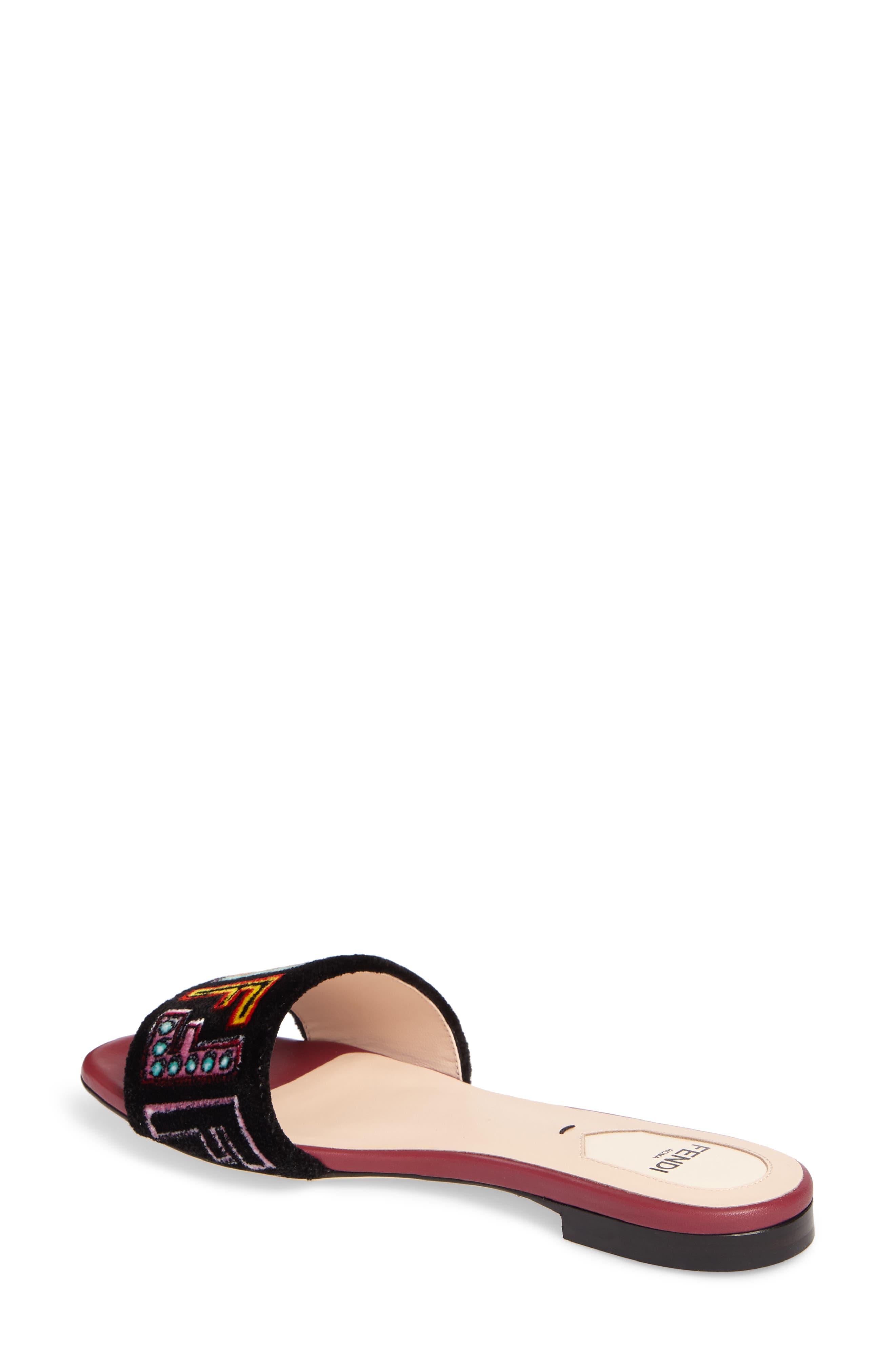 Alternate Image 2  - Fendi Logo Slide Sandal (Women)