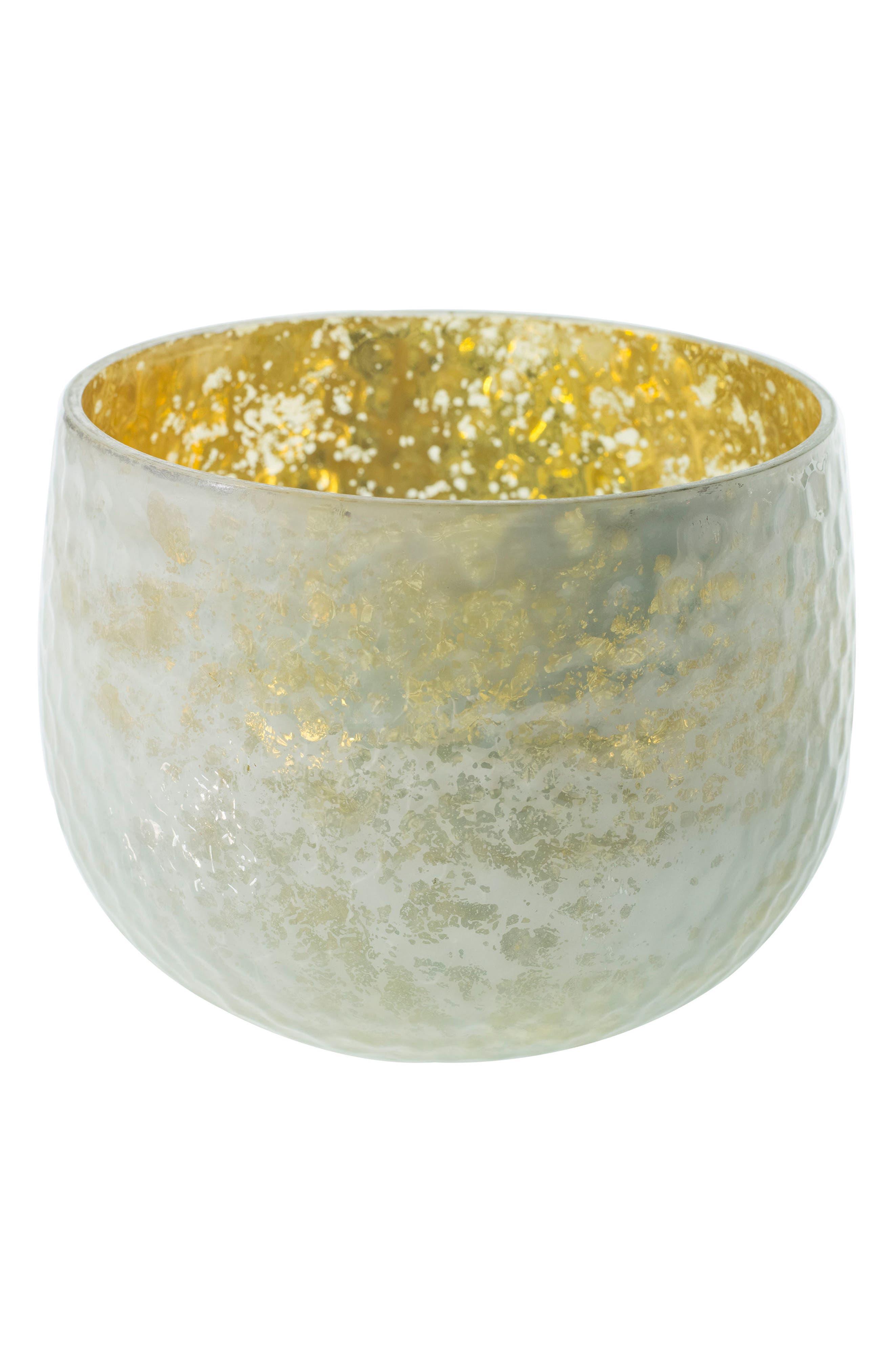 Radiant Mercury Glass Vase,                             Main thumbnail 1, color,                             White