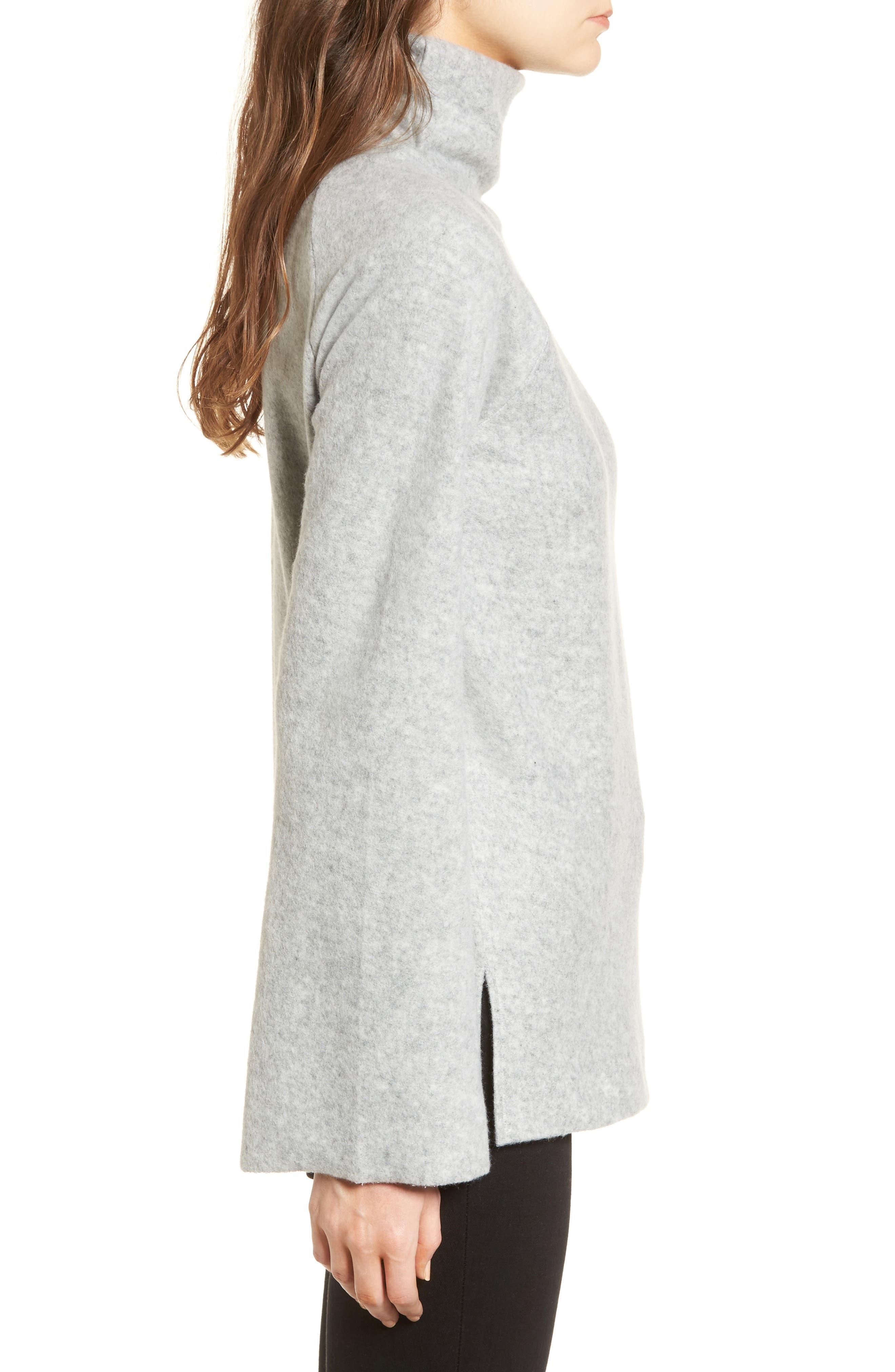 Bell Sleeve Sweatshirt,                             Alternate thumbnail 3, color,                             Grey Heather
