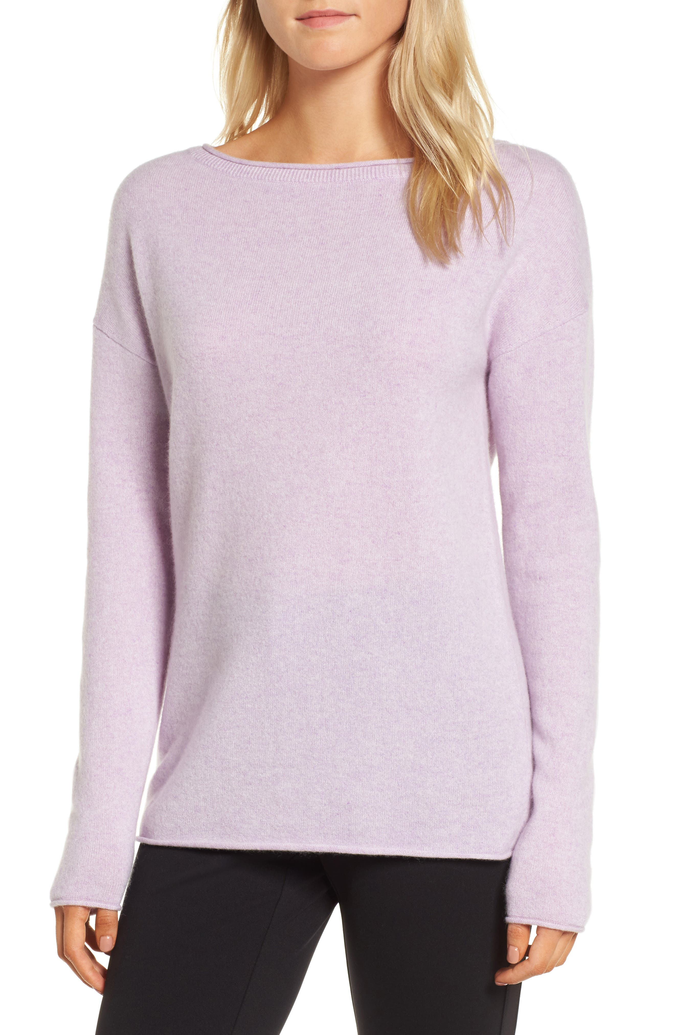 Alternate Image 1 Selected - Nordstrom Signature Boiled Cashmere Sweater