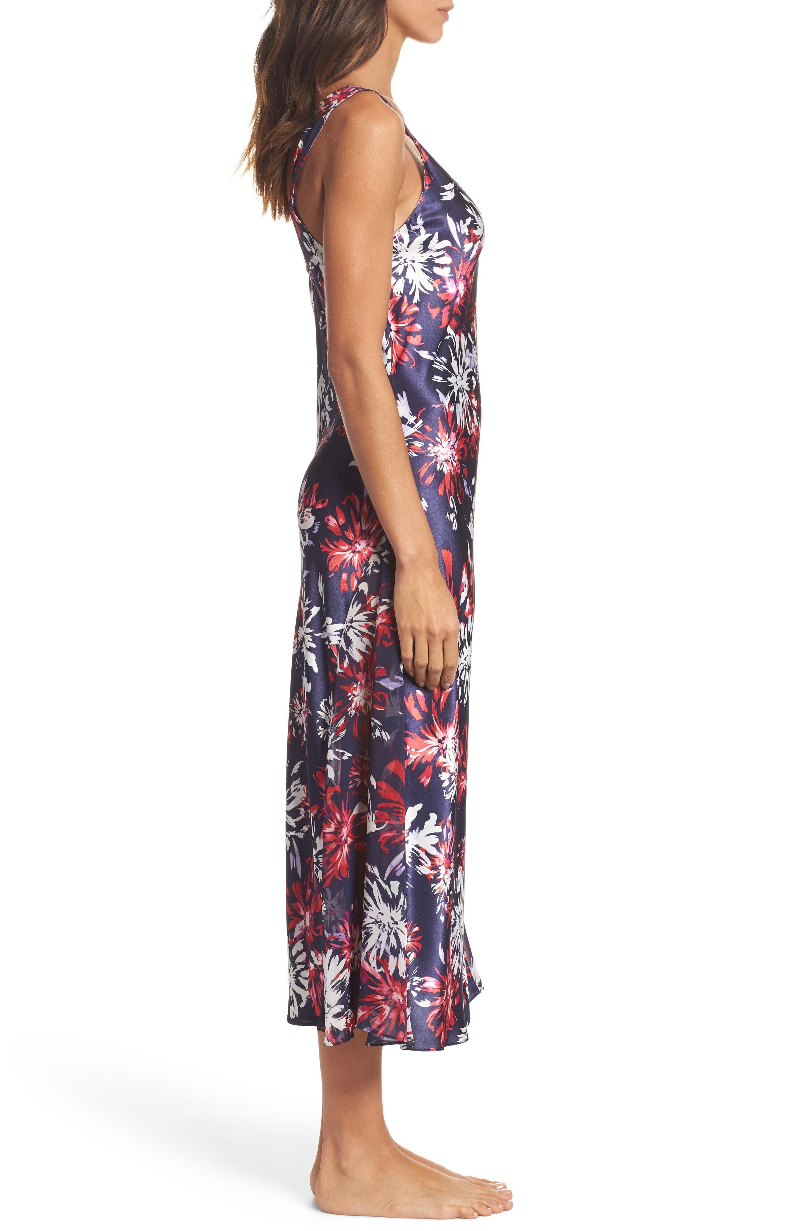 Alternate Image 3  - Oscar de la Renta Sleepwear Charmeuse Nightgown
