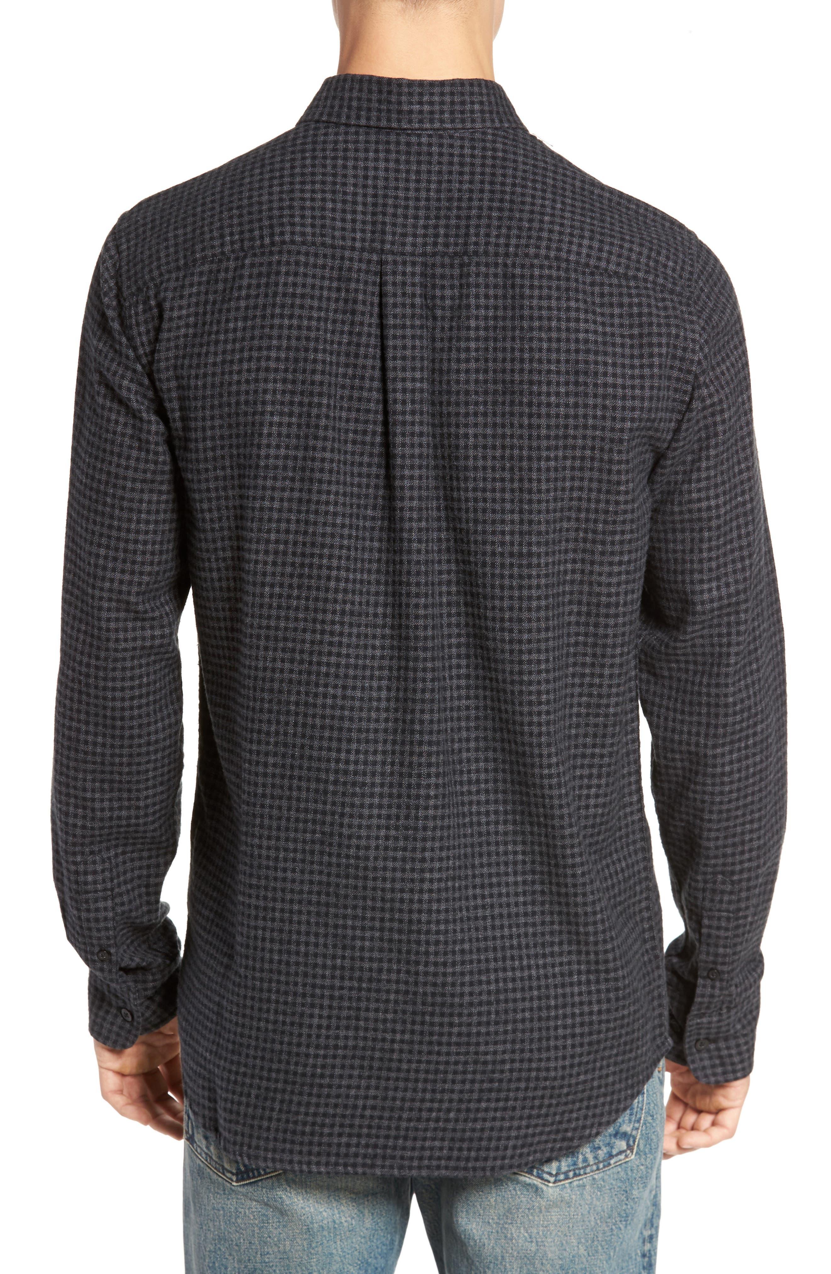 Outsider Microcheck Sport Shirt,                             Alternate thumbnail 2, color,                             Black Multi
