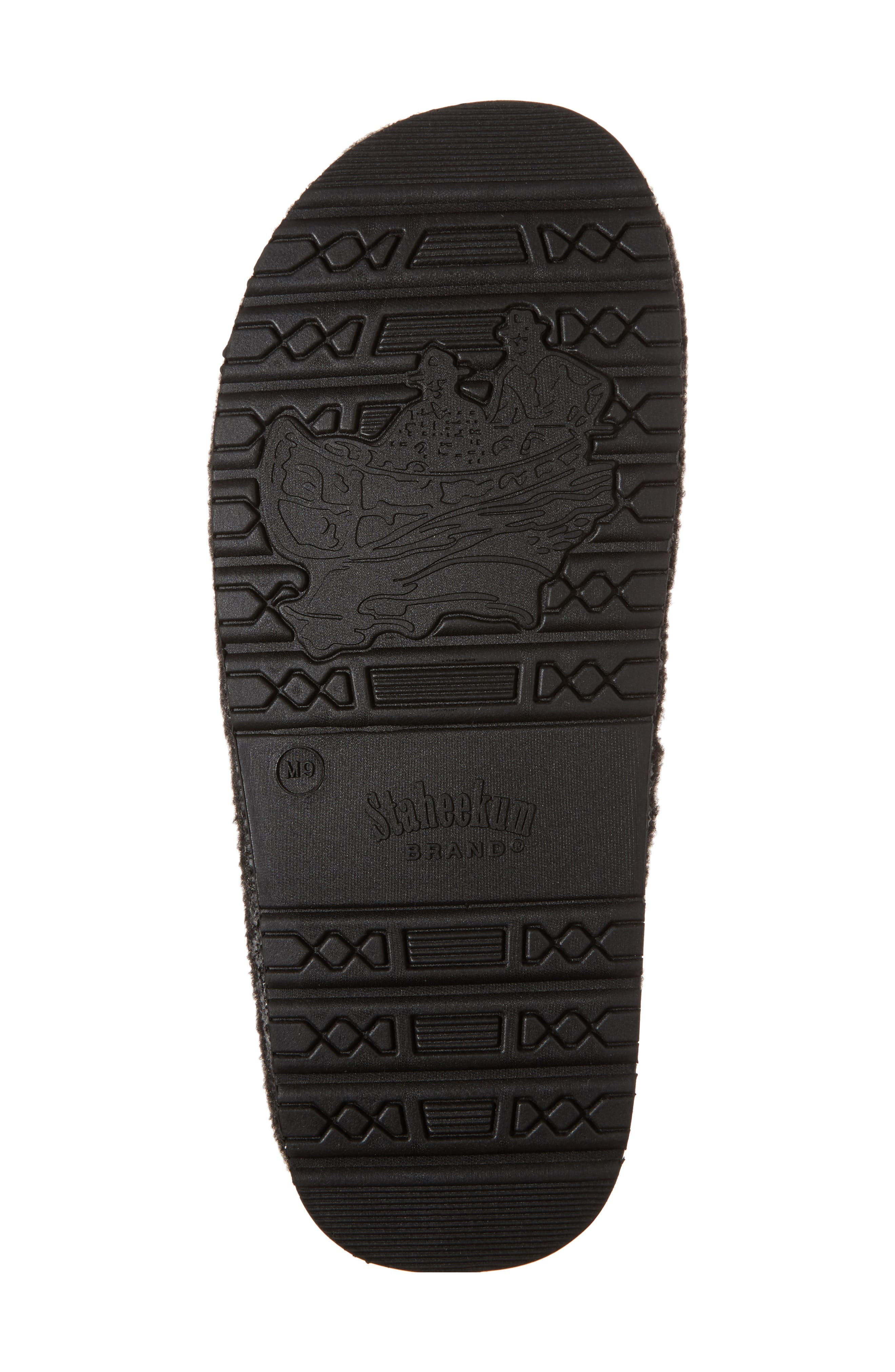 Timber Scuff Slipper,                             Alternate thumbnail 6, color,                             Charcoal Felt/ Polyester