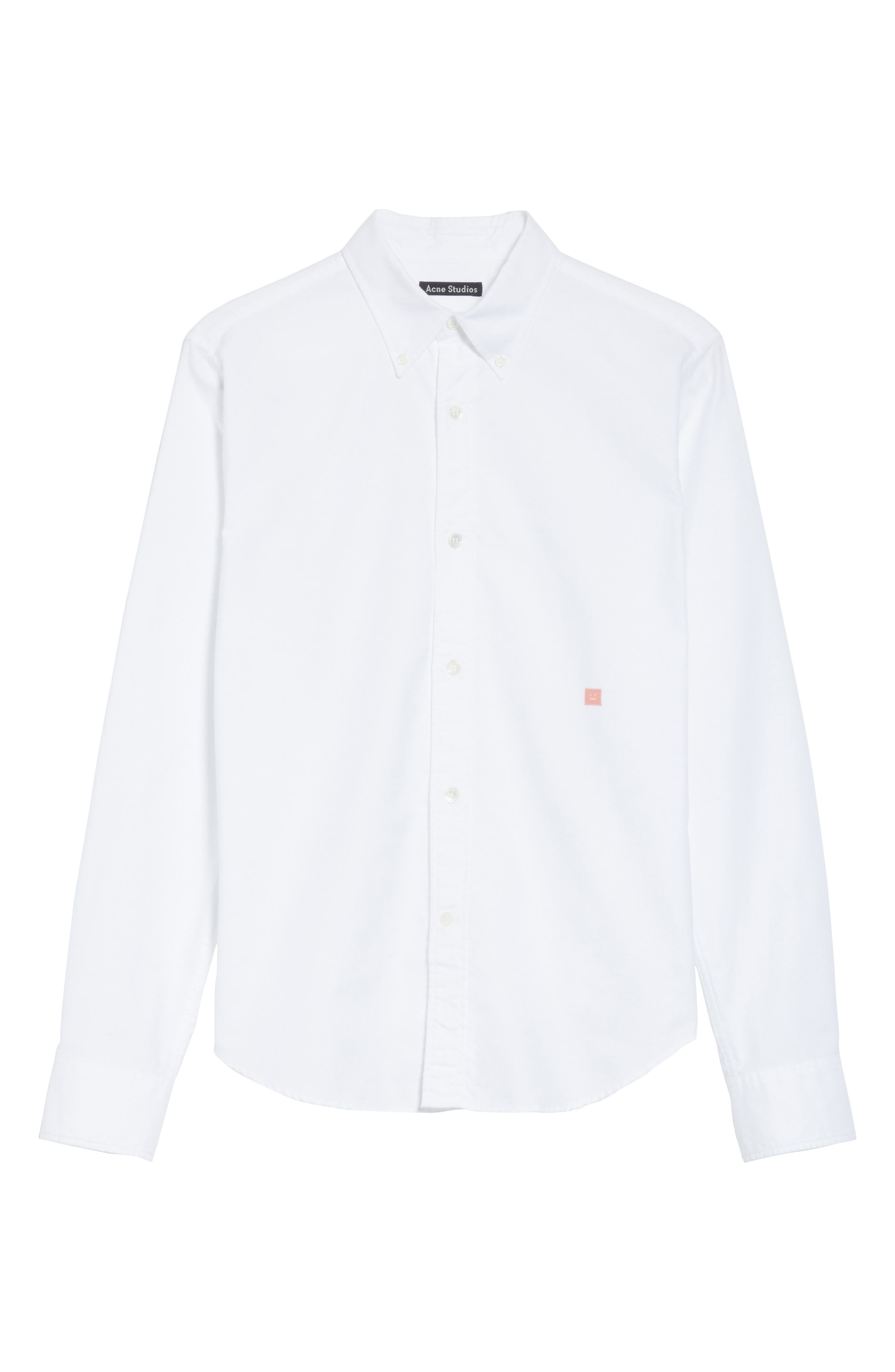 Alternate Image 6  - ACNE Studios Ohio Face Patch Oxford Shirt