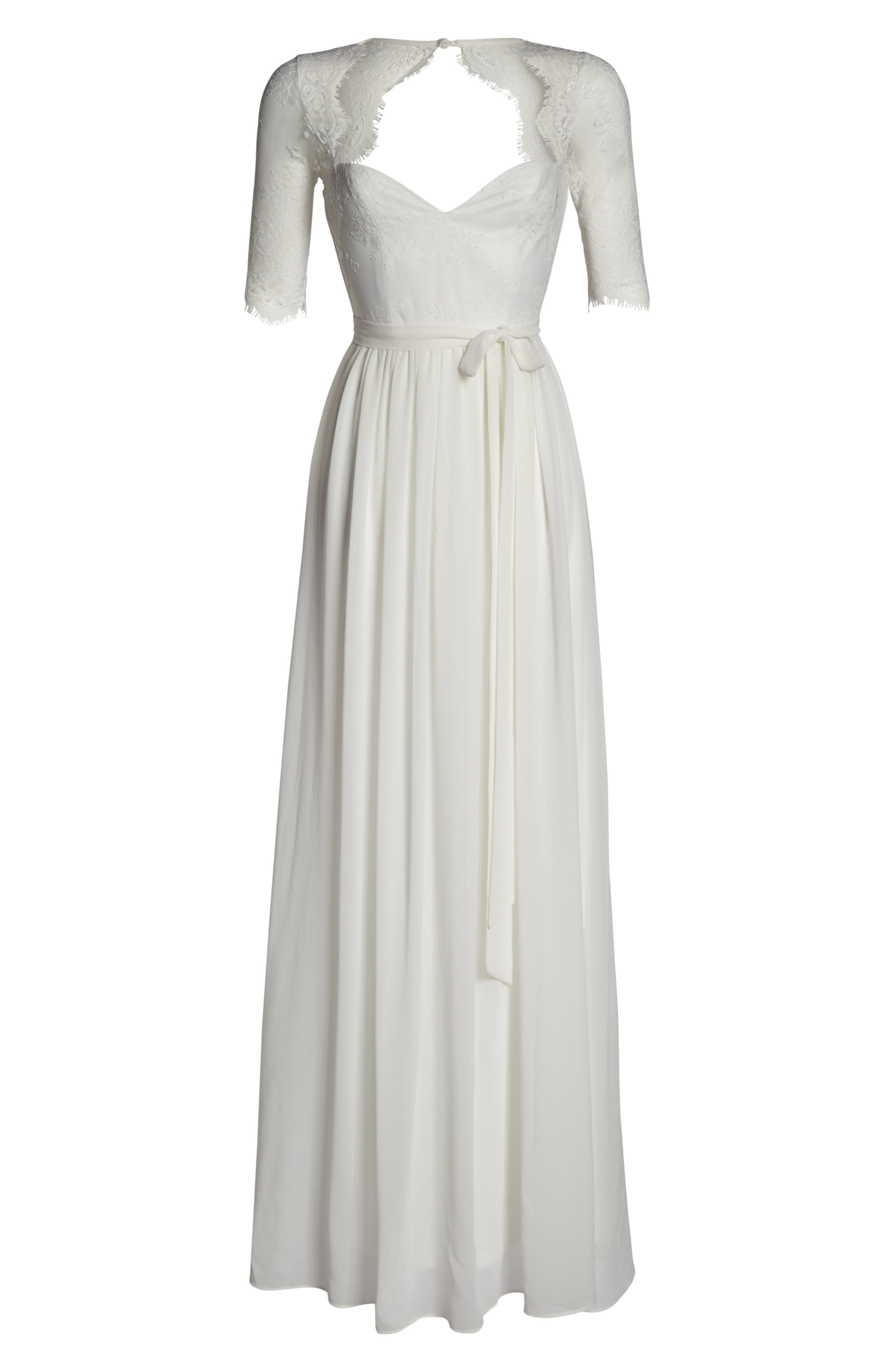 Alternate Image 6  - Lulus Sweetheart Chiffon Gown