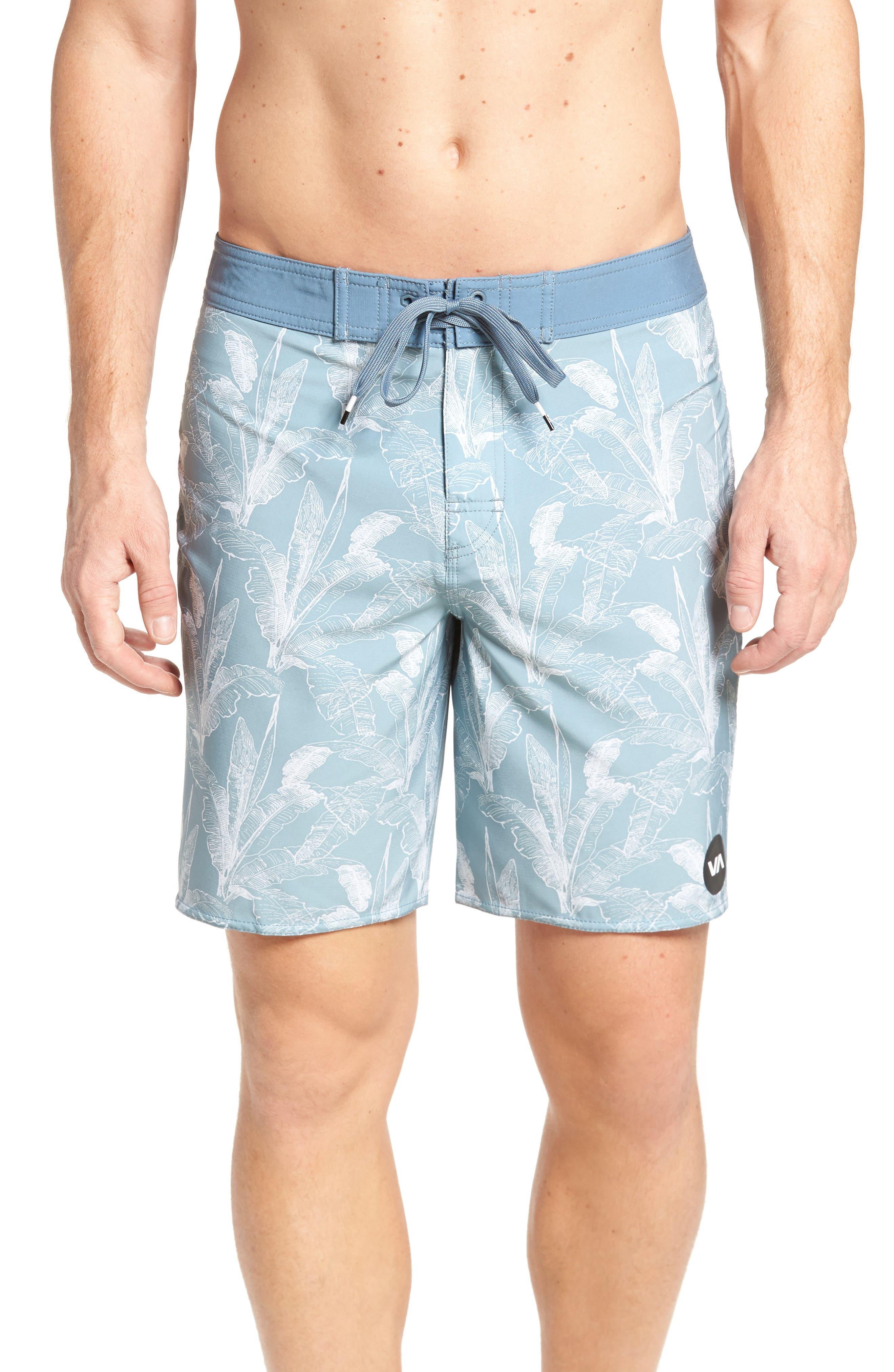 Mirage Print Board Shorts,                         Main,                         color, Arona Blue