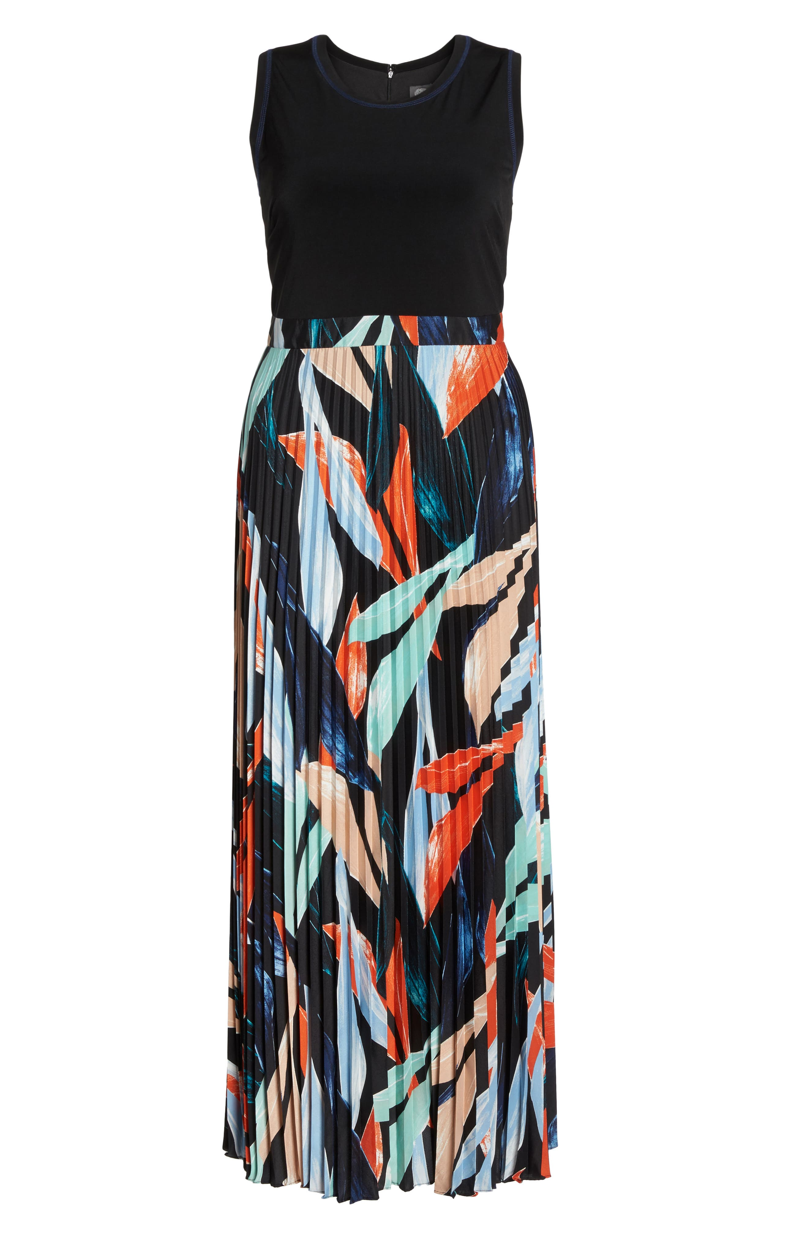 Mock Two-Piece Maxi Dress,                             Alternate thumbnail 7, color,                             Poppy Multi