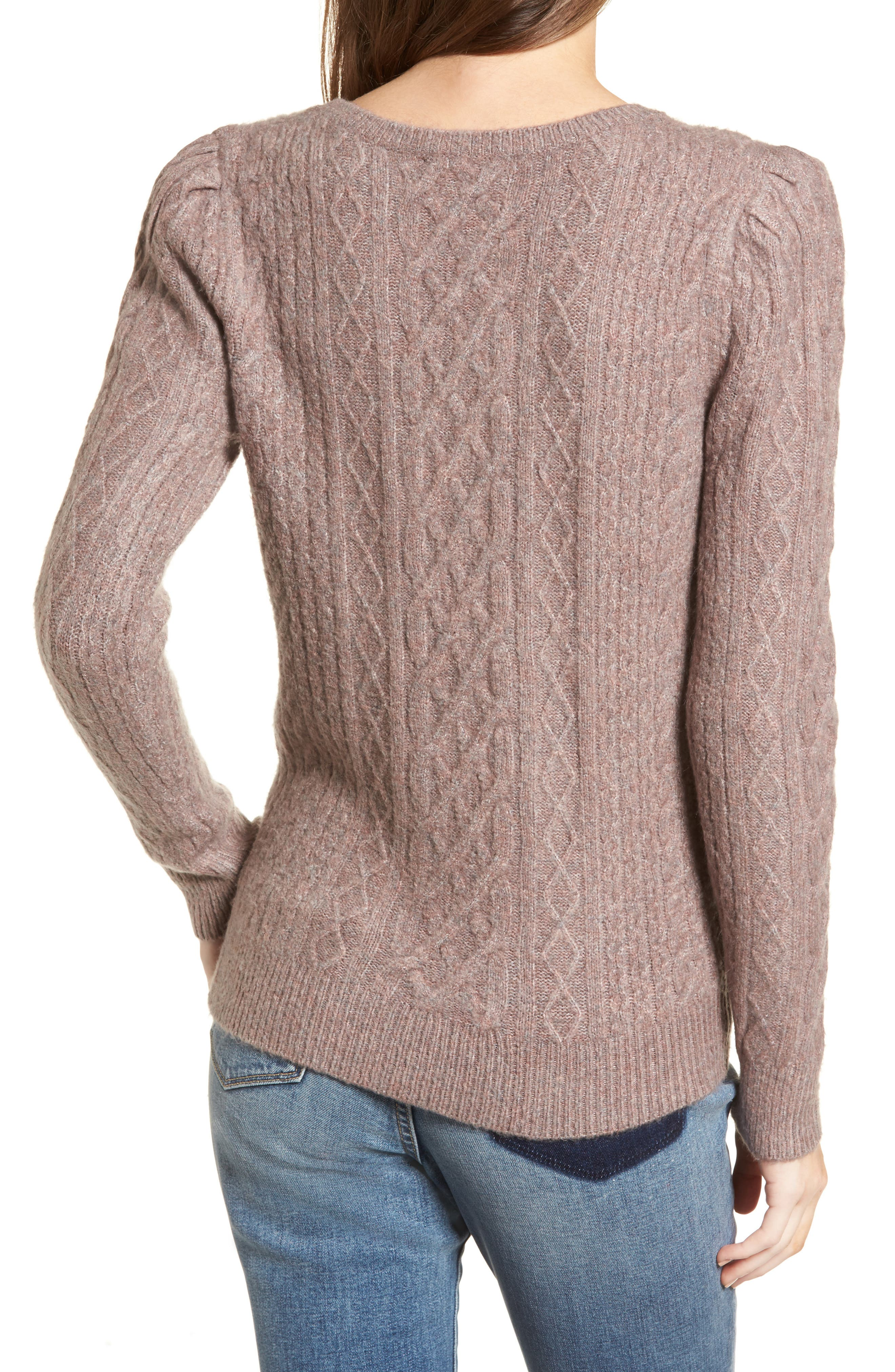 Compact Cable Sweater,                             Alternate thumbnail 2, color,                             Tan Dusk Rainbow Multi