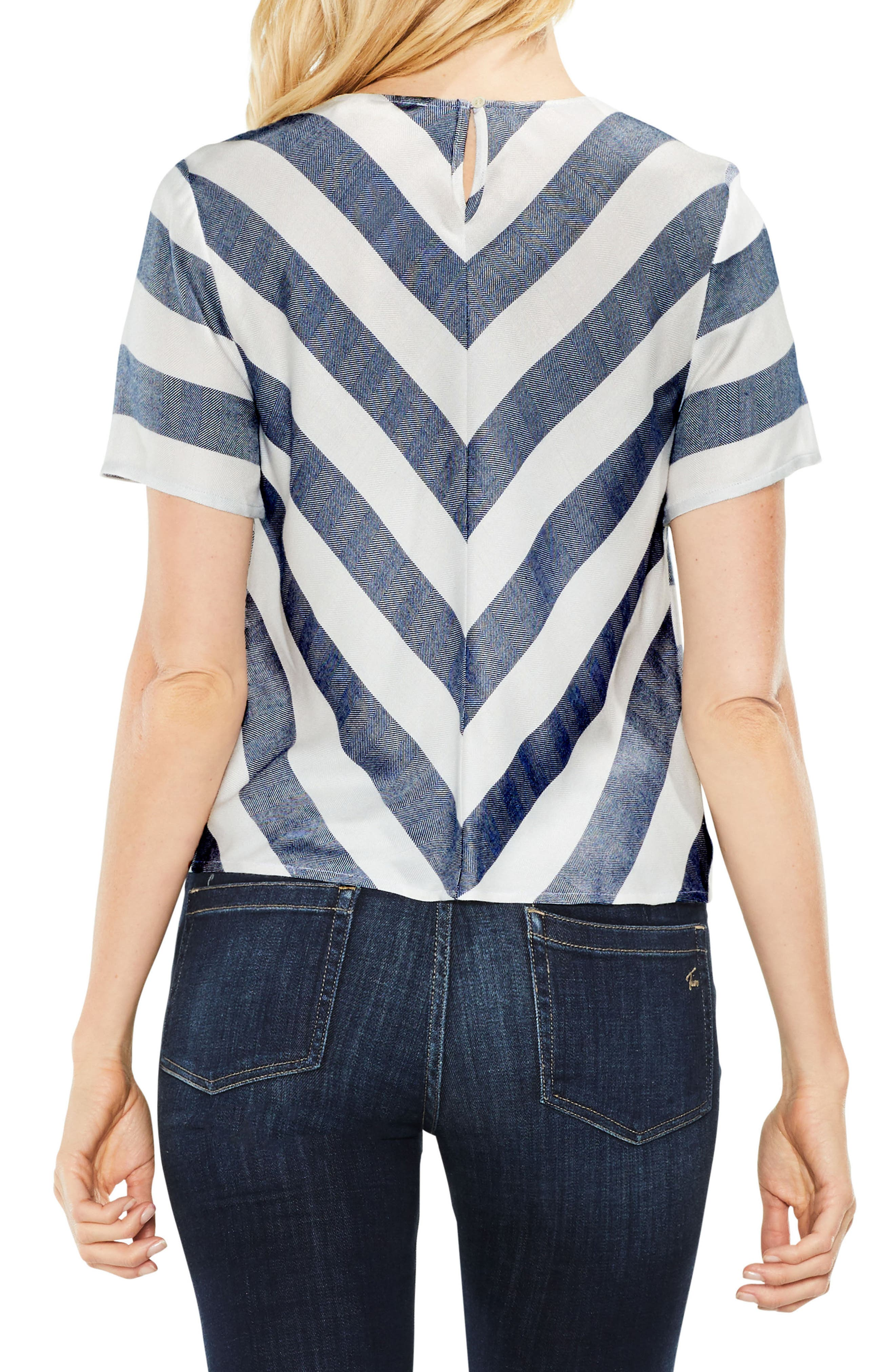 Alternate Image 2  - Two by Vince Camuto Refined Herringbone Top