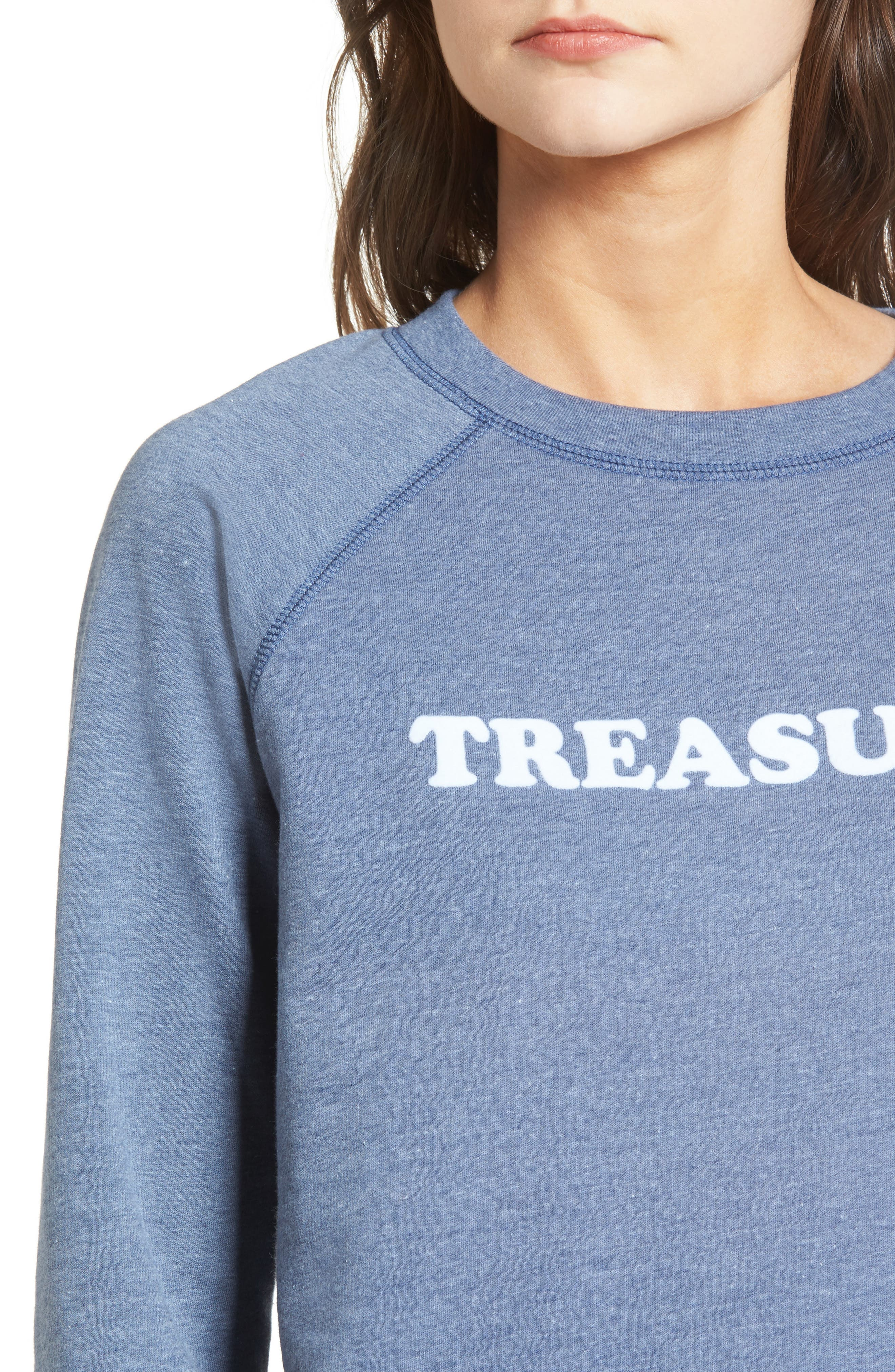 Crewneck Sweatshirt,                             Alternate thumbnail 4, color,                             Blue Insignia Treasure