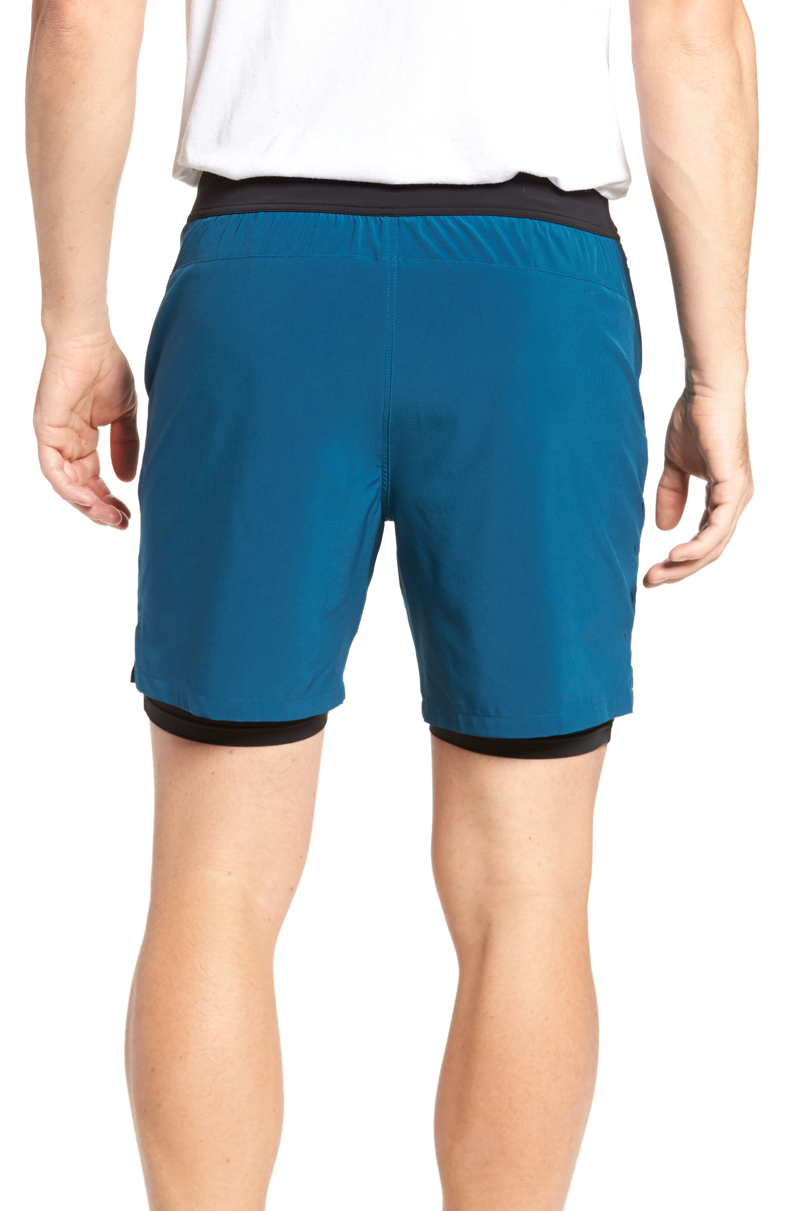Interval Athletic Shorts,                             Alternate thumbnail 2, color,                             Dark Teal