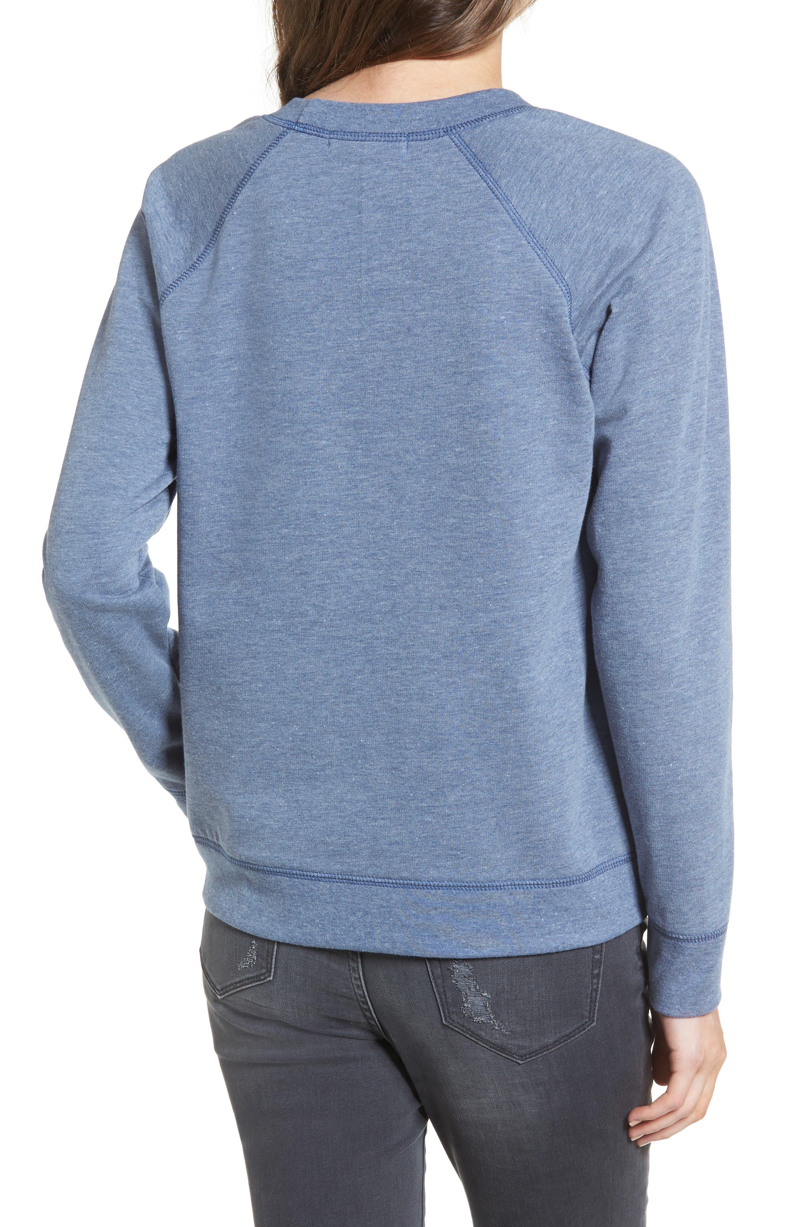 Crewneck Sweatshirt,                             Alternate thumbnail 2, color,                             Blue Insignia Treasure