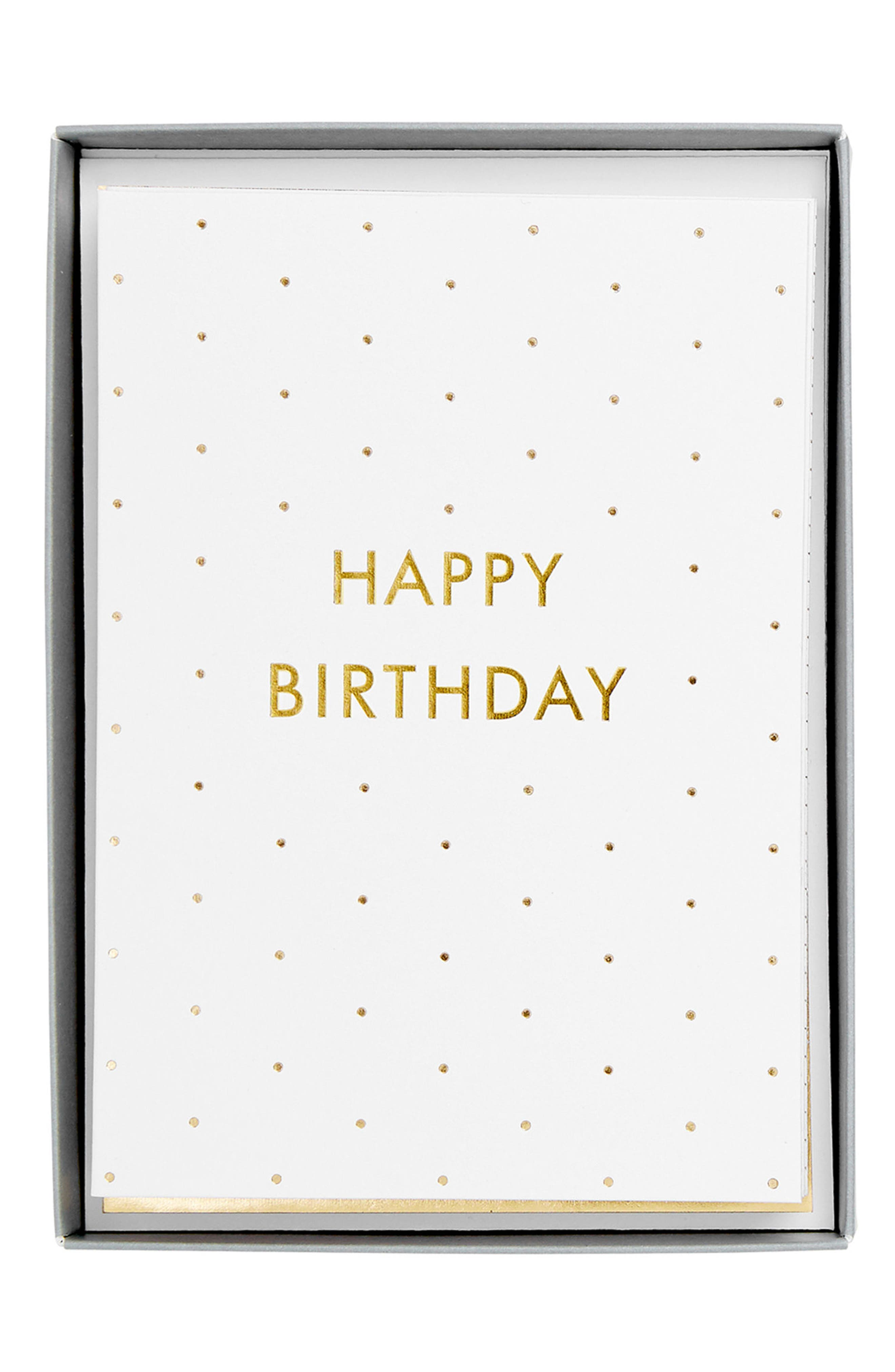 Main Image - kikki.K Time is Now 10-Pack Birthday Cards