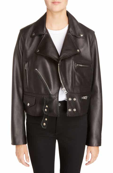 Designer Leather and Faux Leather Jackets for Women | Nordstrom