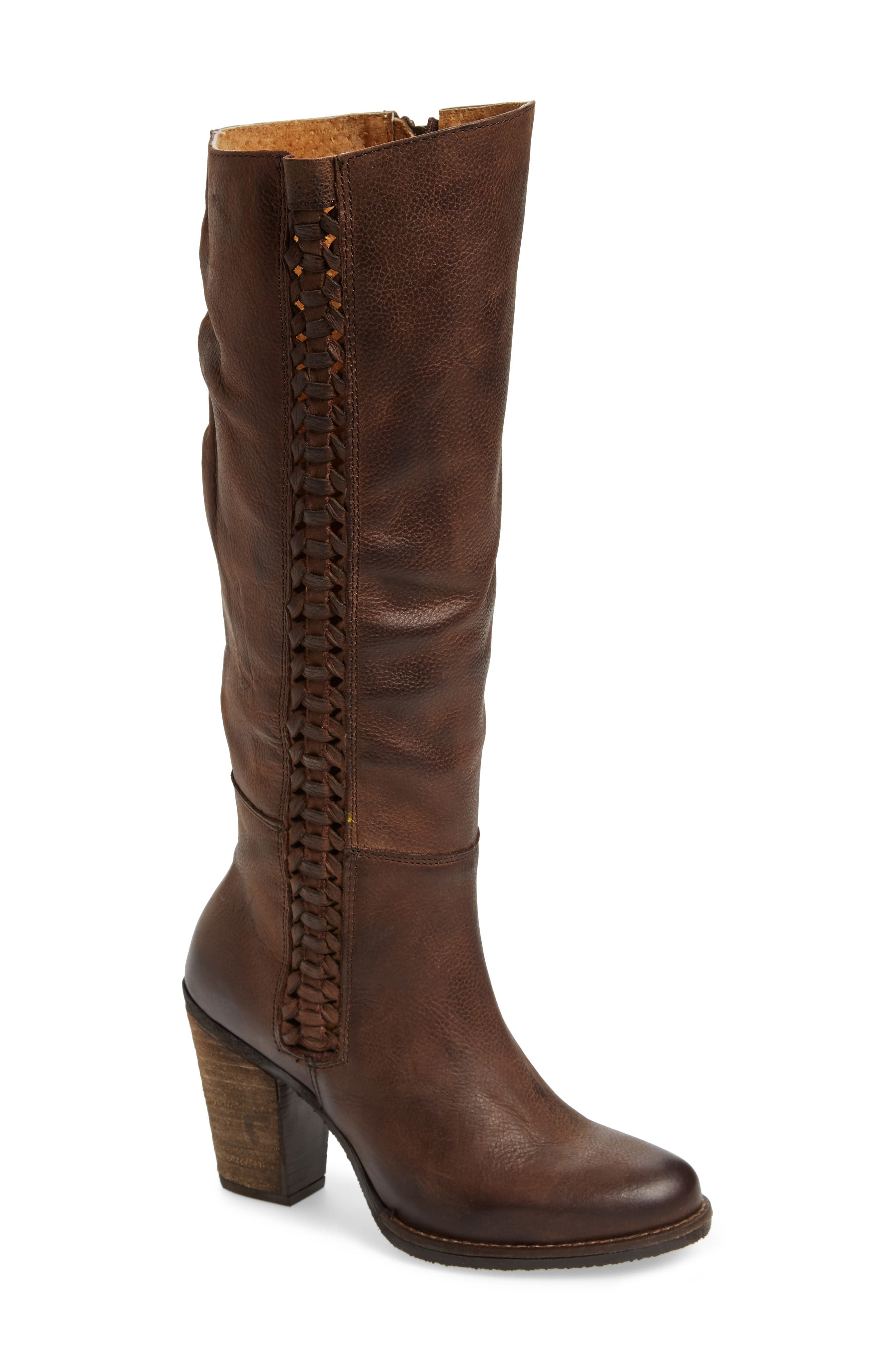 Flacon Boot,                             Main thumbnail 1, color,                             Brown Leather