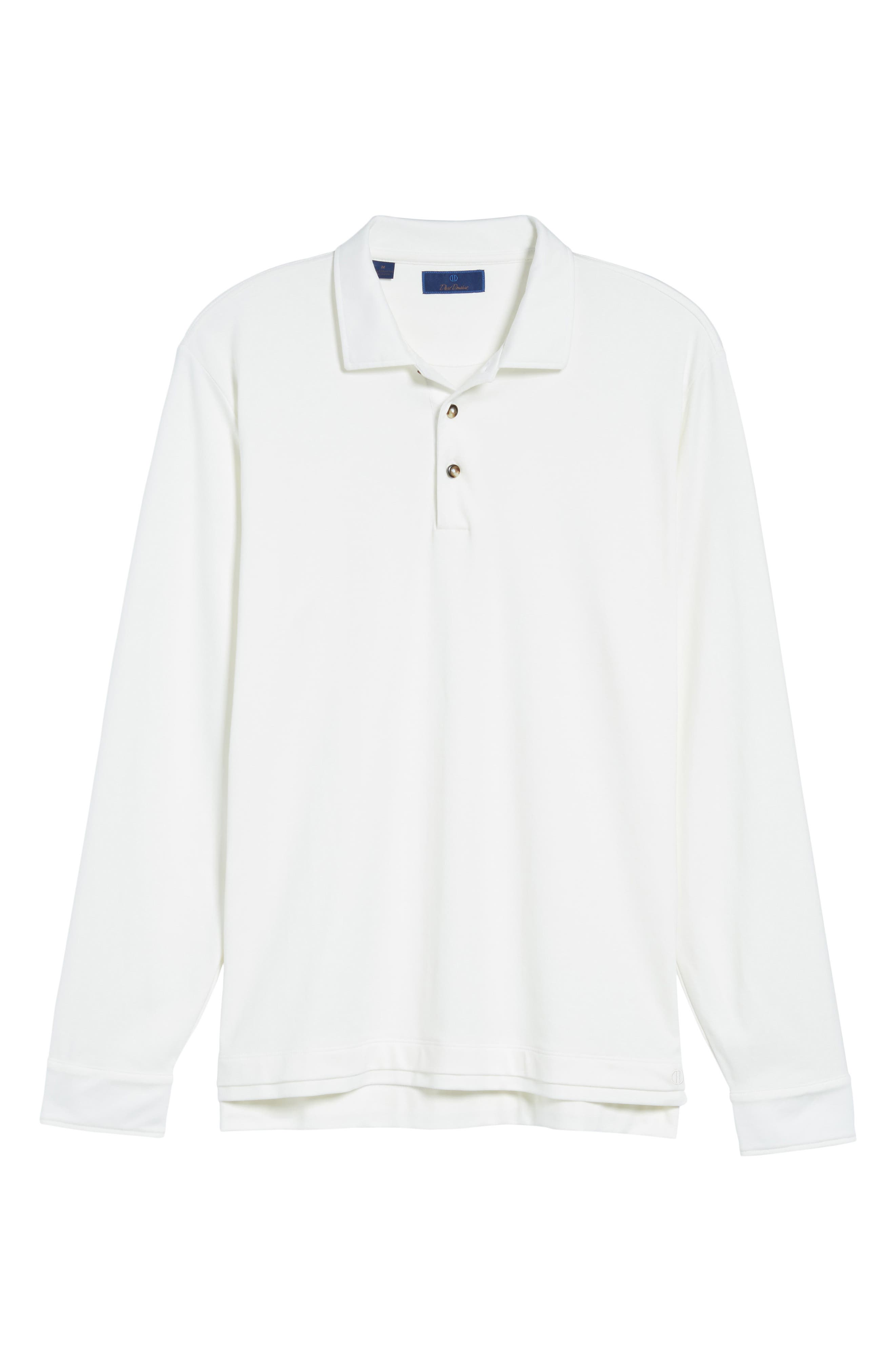 Interlock Polo,                             Alternate thumbnail 6, color,                             White