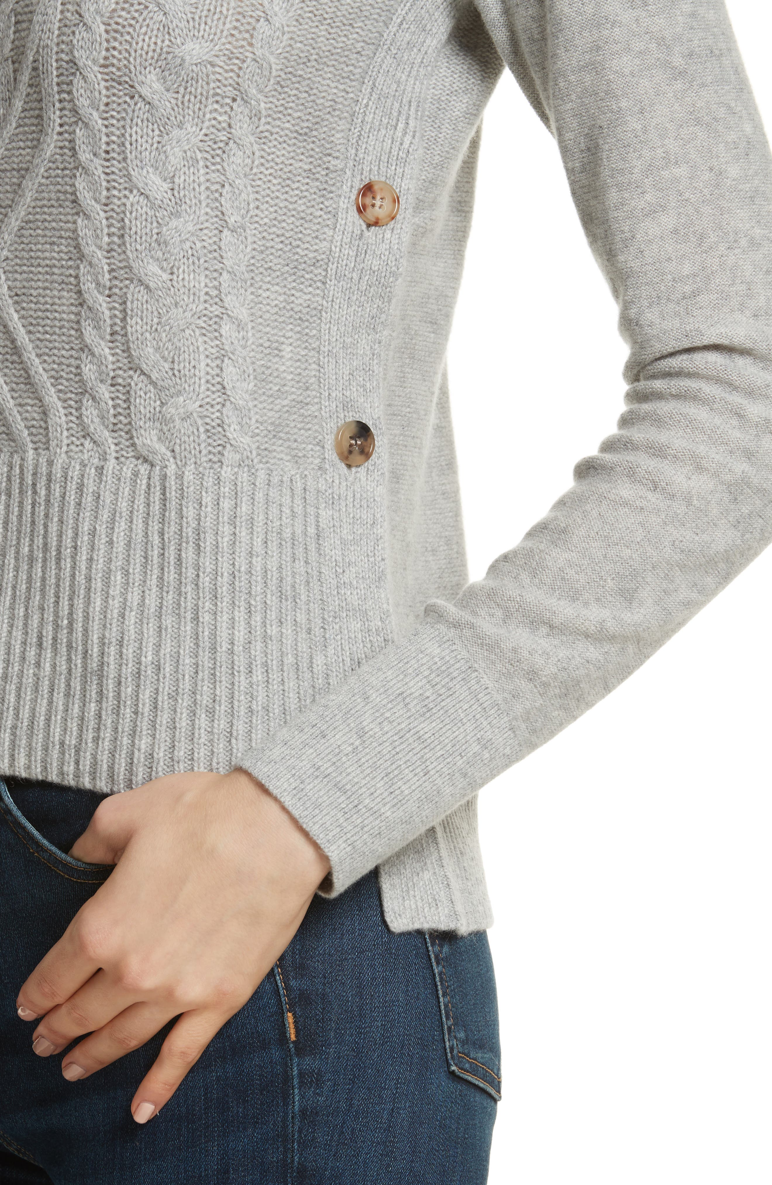Kenna Cashmere Sweater,                             Alternate thumbnail 4, color,                             Grey