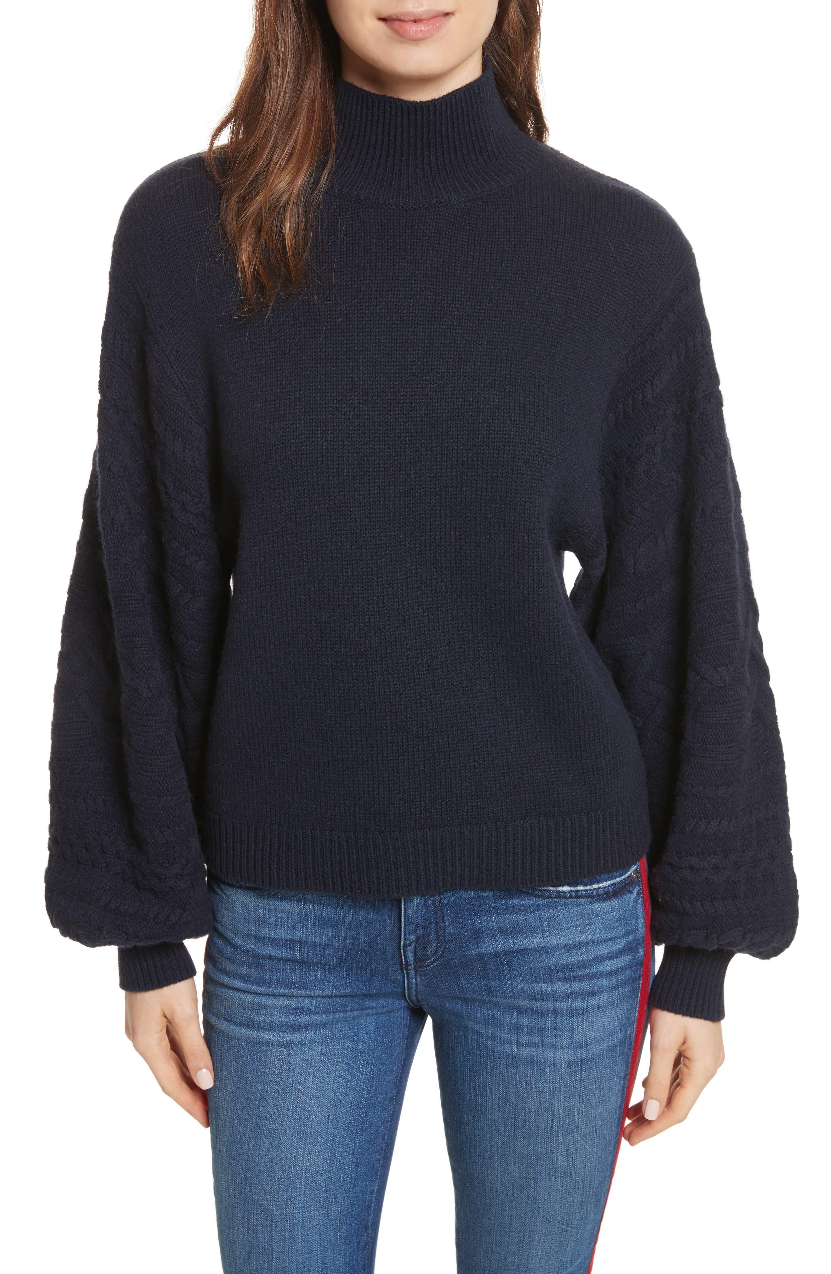 Lathen Mock Neck Sweater,                         Main,                         color, Midnight