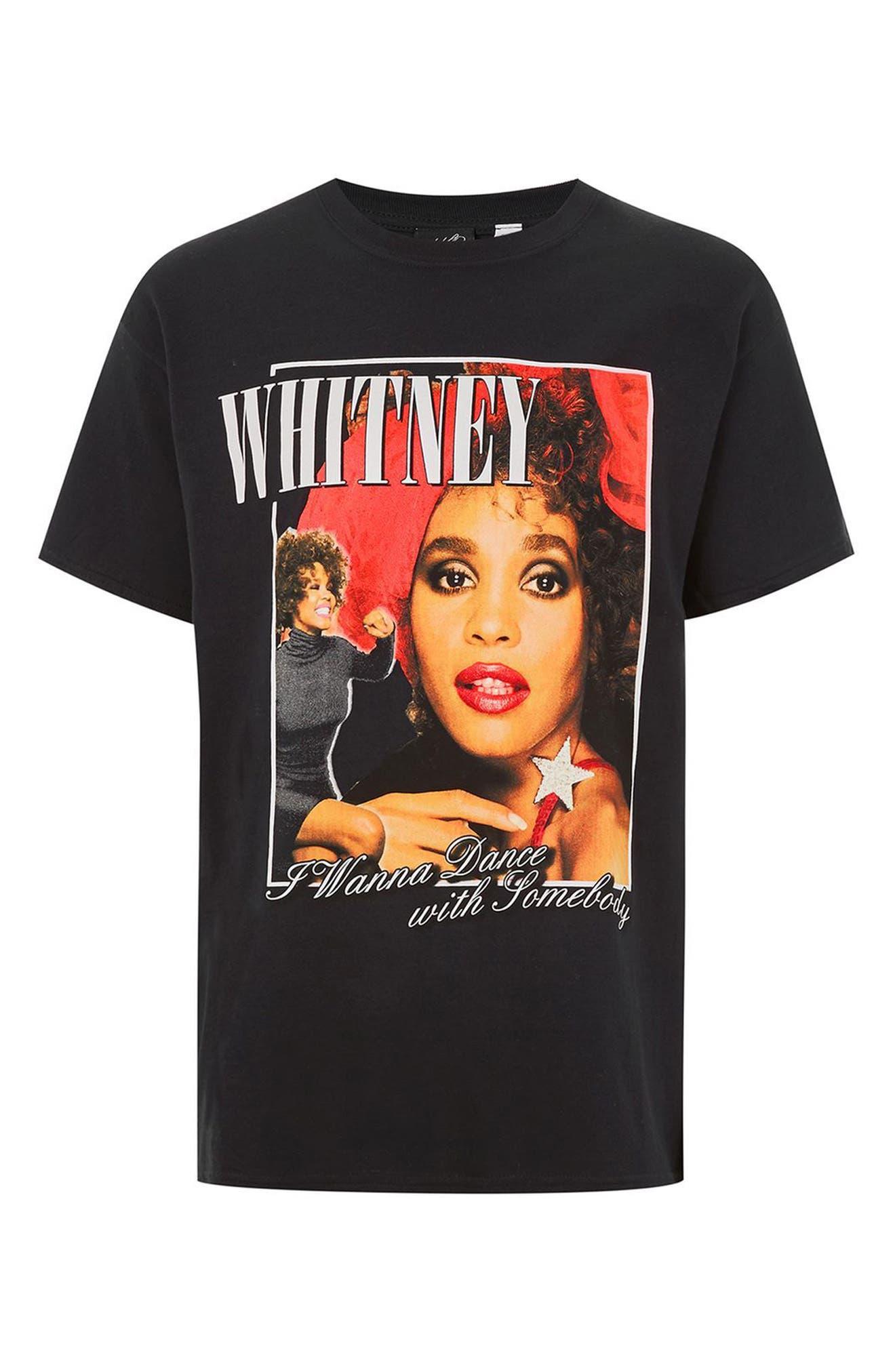 Whitney Houston Graphic T-Shirt,                             Alternate thumbnail 4, color,                             Black Multi