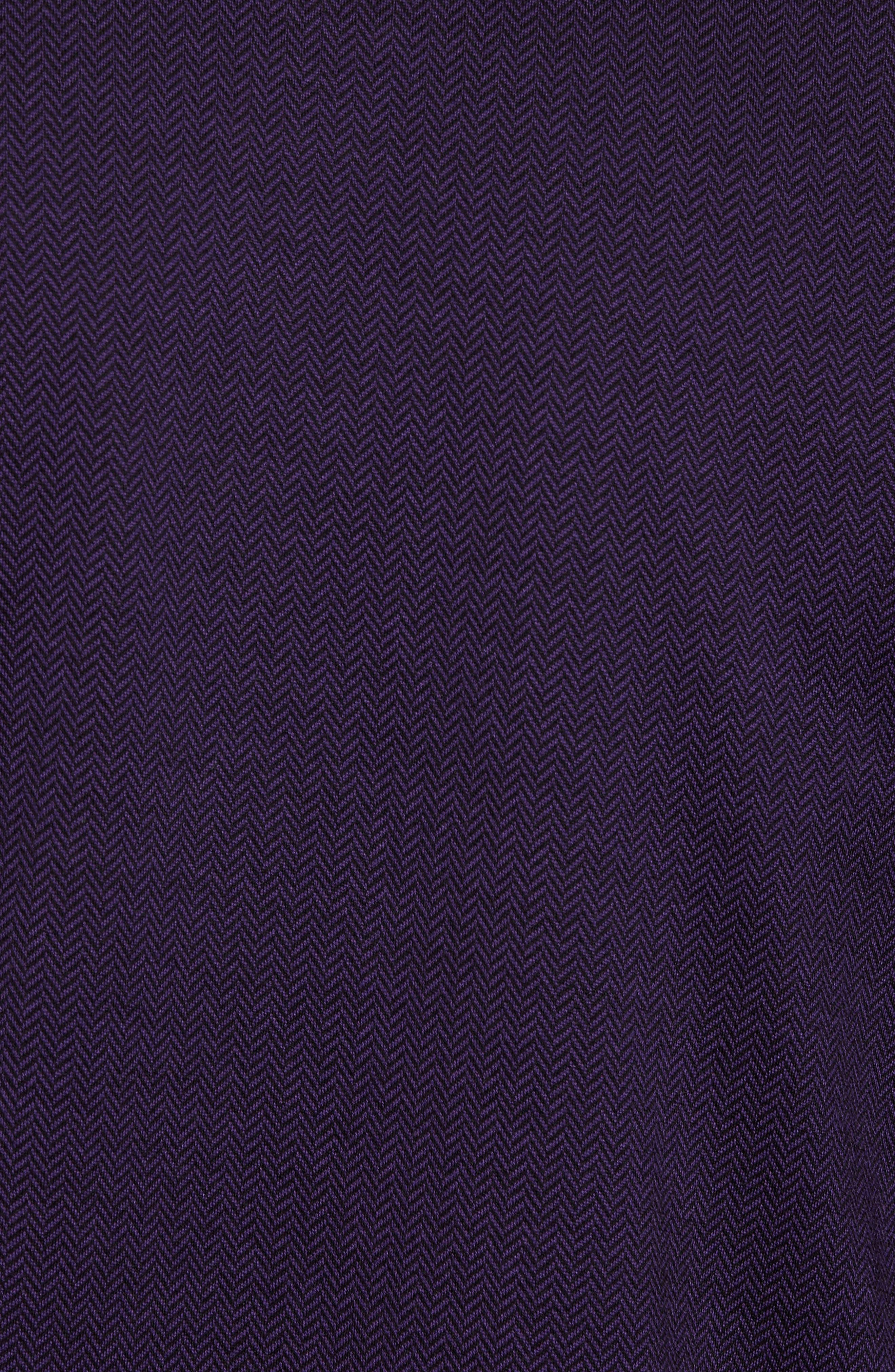 Herringbone Jacquard Polo,                             Alternate thumbnail 5, color,                             Purple