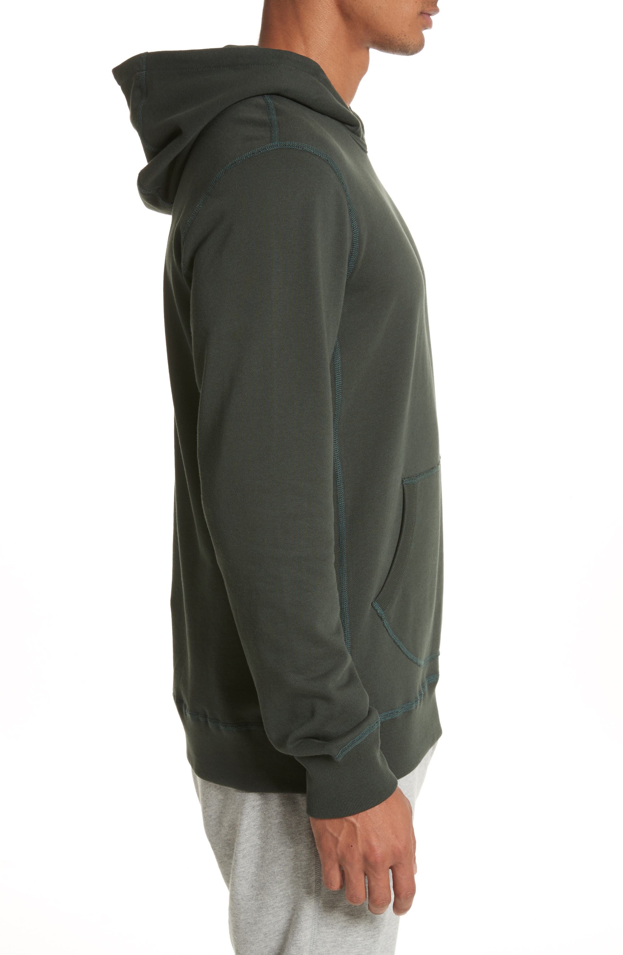 Hoodie,                             Alternate thumbnail 3, color,                             Jungle Green