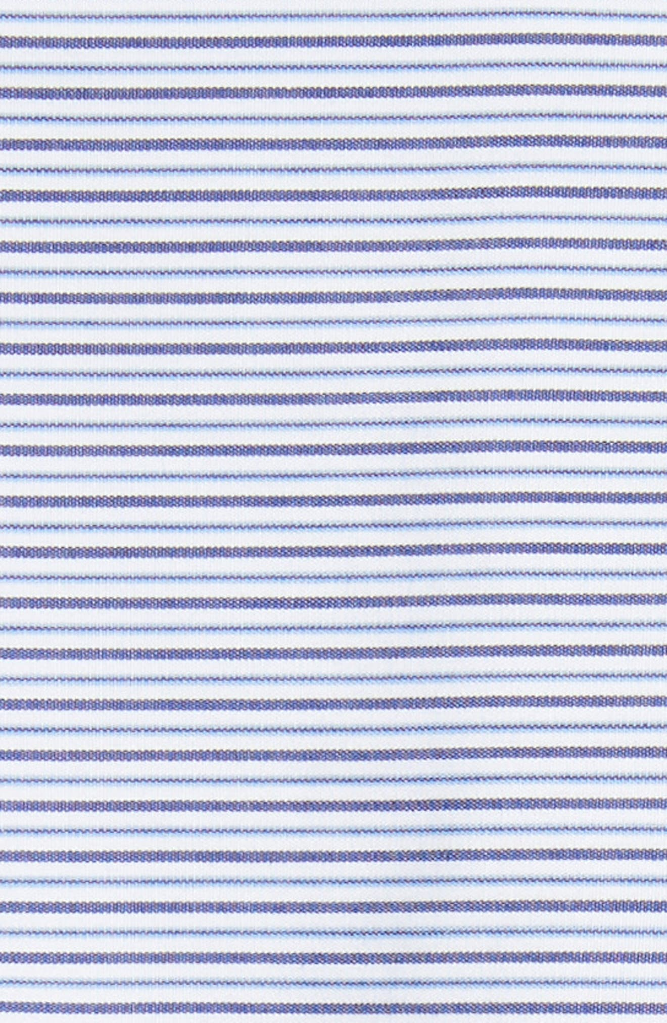 Asymmetrical Cotton Shirtdress,                             Alternate thumbnail 4, color,                             Blue Multi