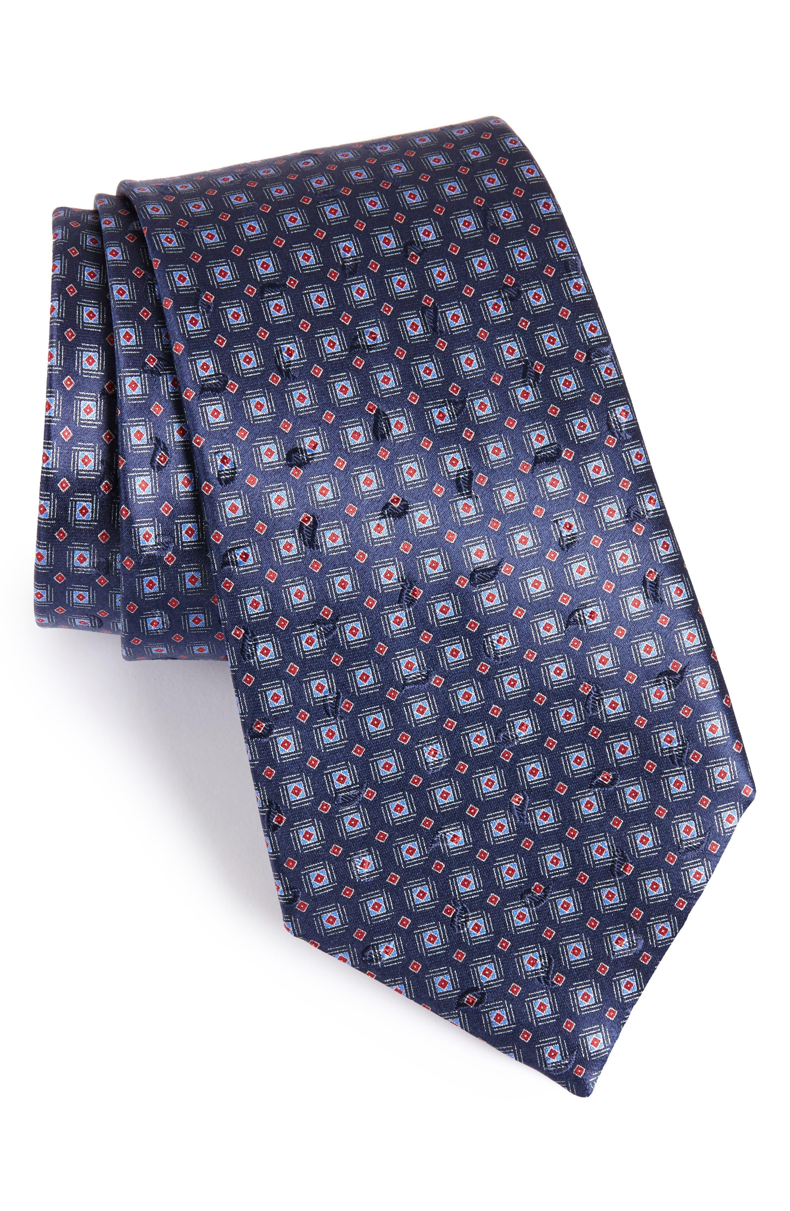 Ermenegildo Zegna Neat Geometric Silk Tie