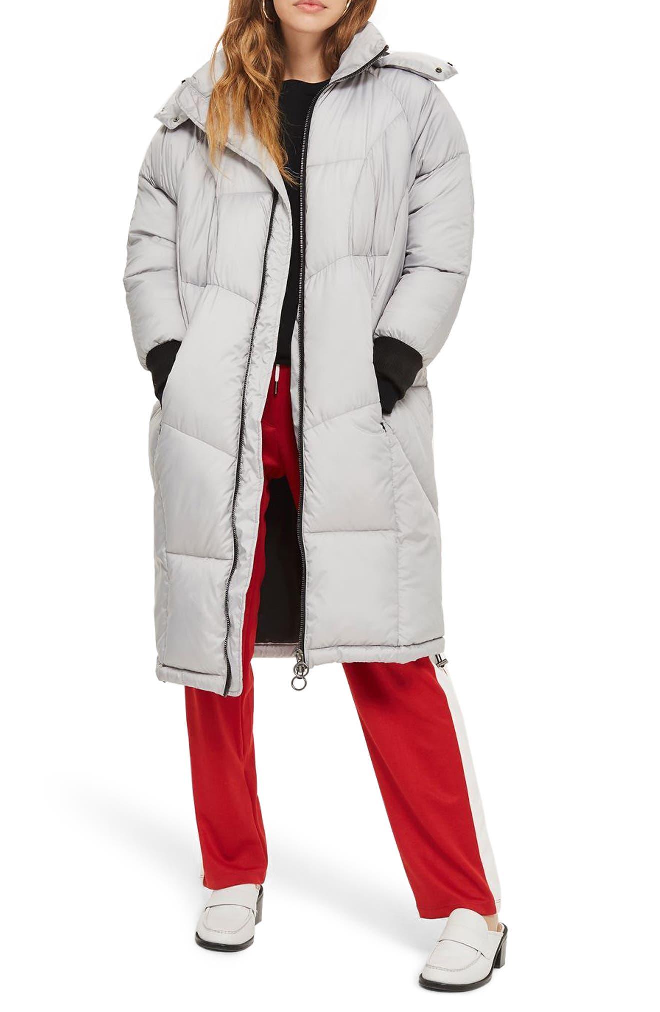 Topshop Pippa Long Puffer Coat