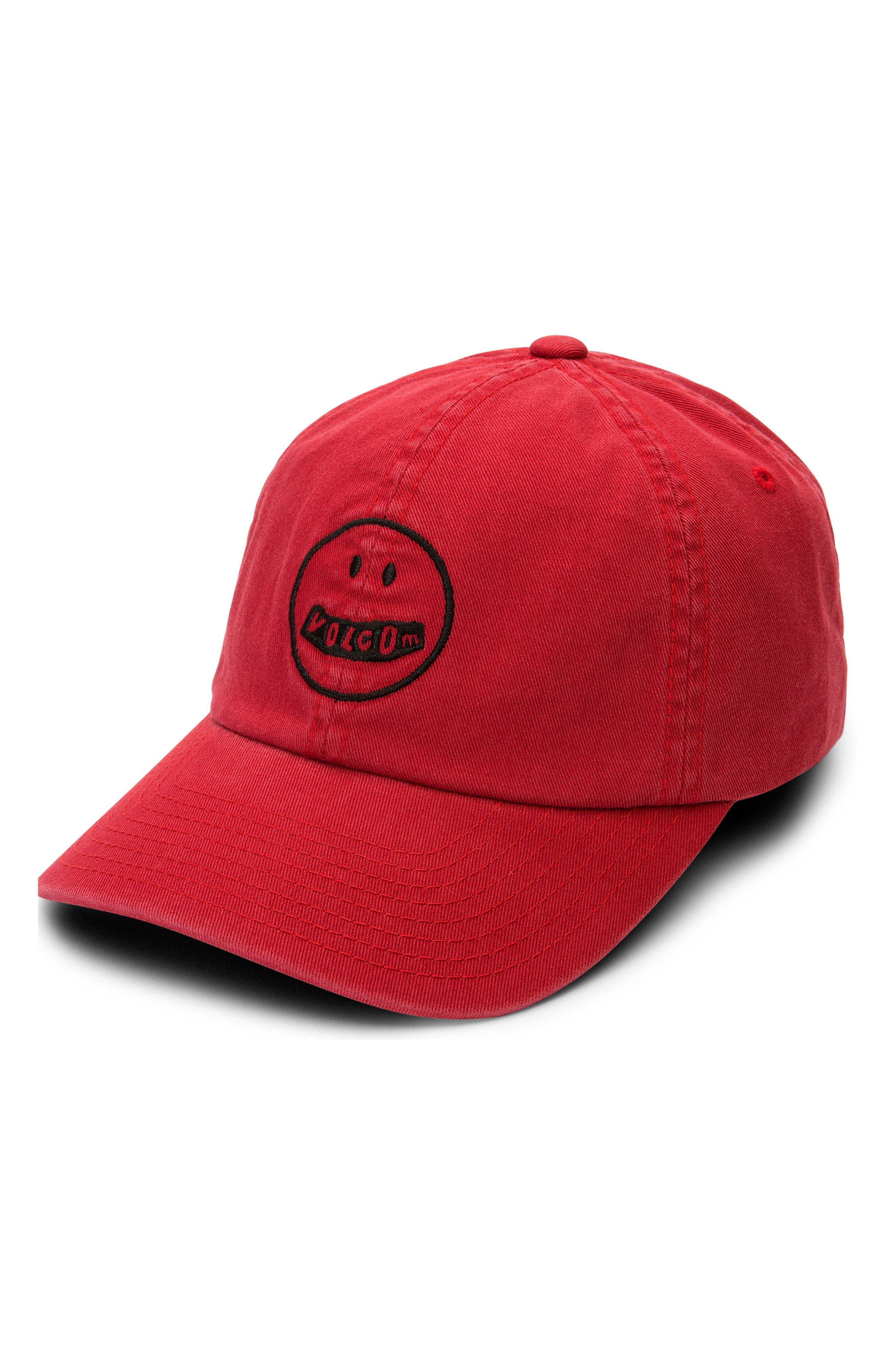 Good Mood Dad Baseball Hat,                             Main thumbnail 1, color,                             Red Chili
